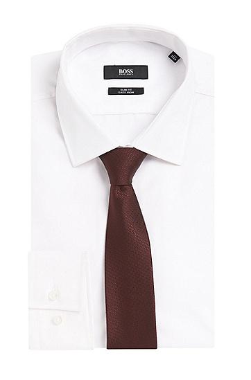 Travel Line Krawatte aus wasserabweisender Seide: 'Tie 6 cm traveller', Rot