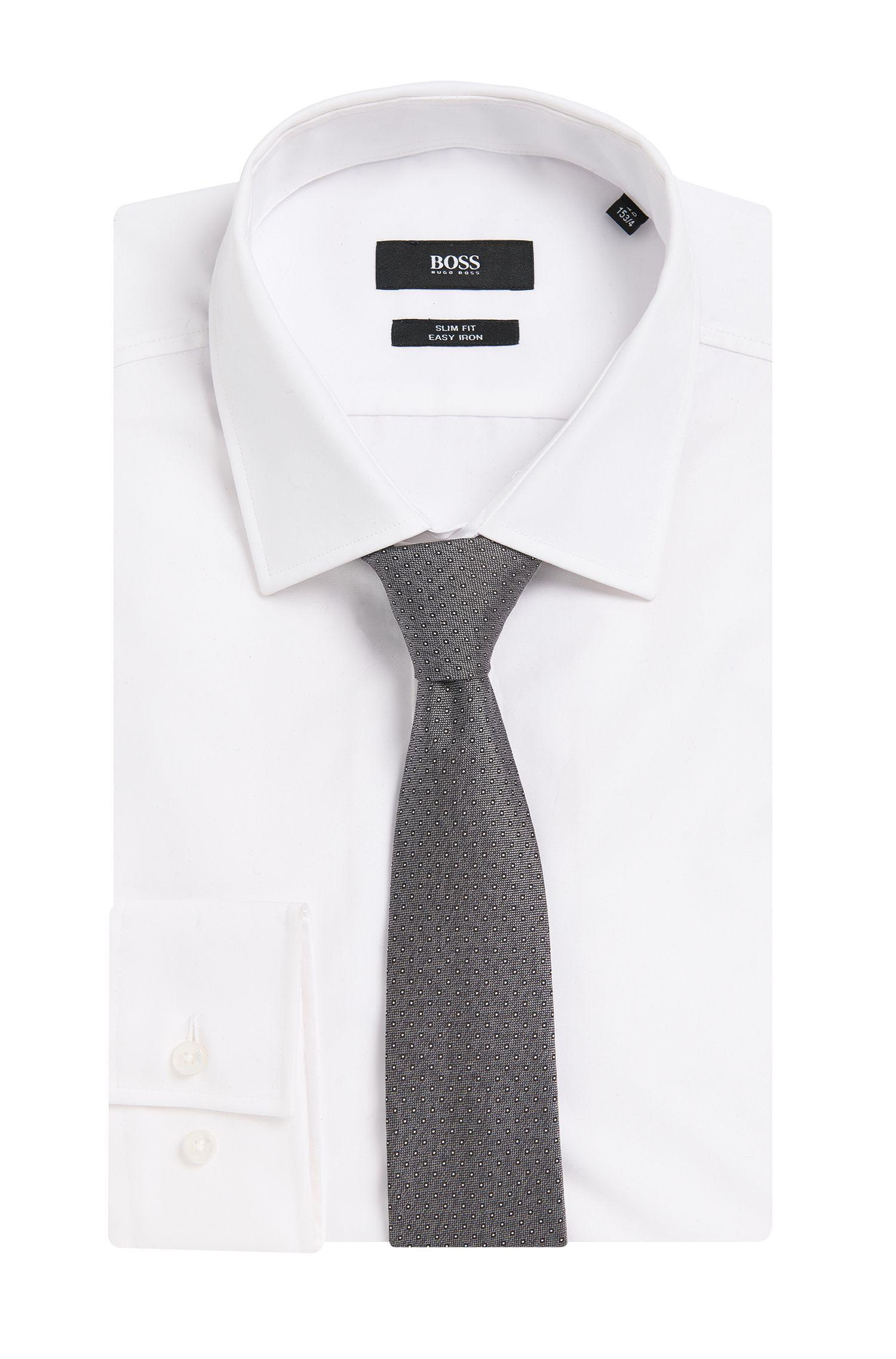 Travel Line Krawatte aus wasserabweisender Seide mit Punkten: 'Tie 6 cm traveller'