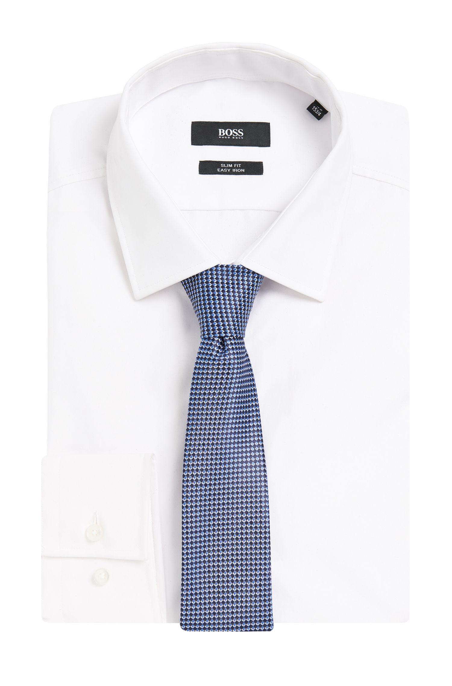 Cravate en soie à motif à losanges: «Tie6cm»