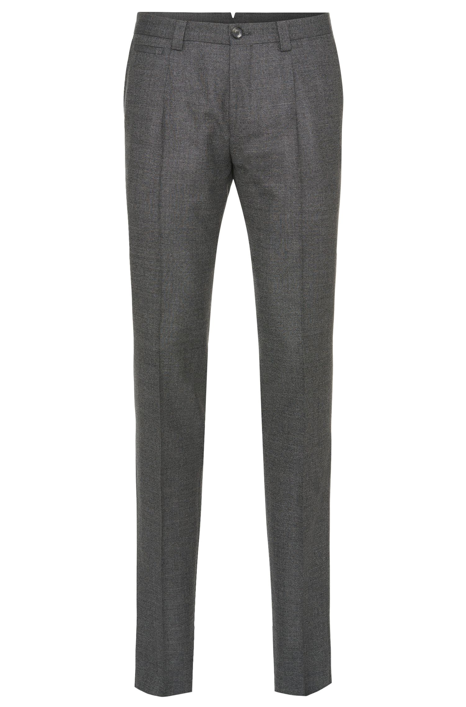 Pantalon Slim Fit Tailored en pure laine vierge : « T-Britton »