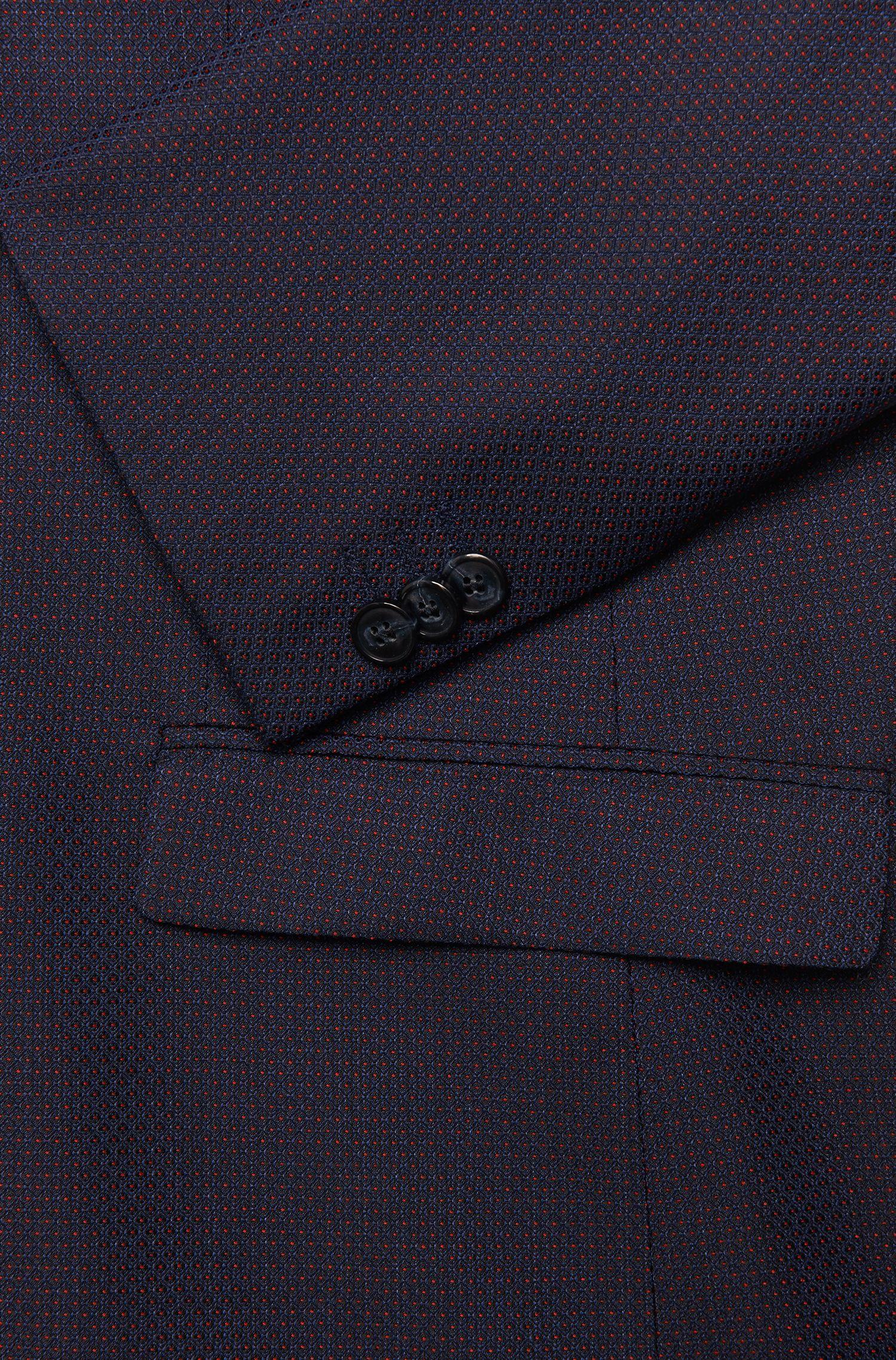 Gepunktetes Slim-Fit Sakko aus reiner Schurwolle: 'Arti'