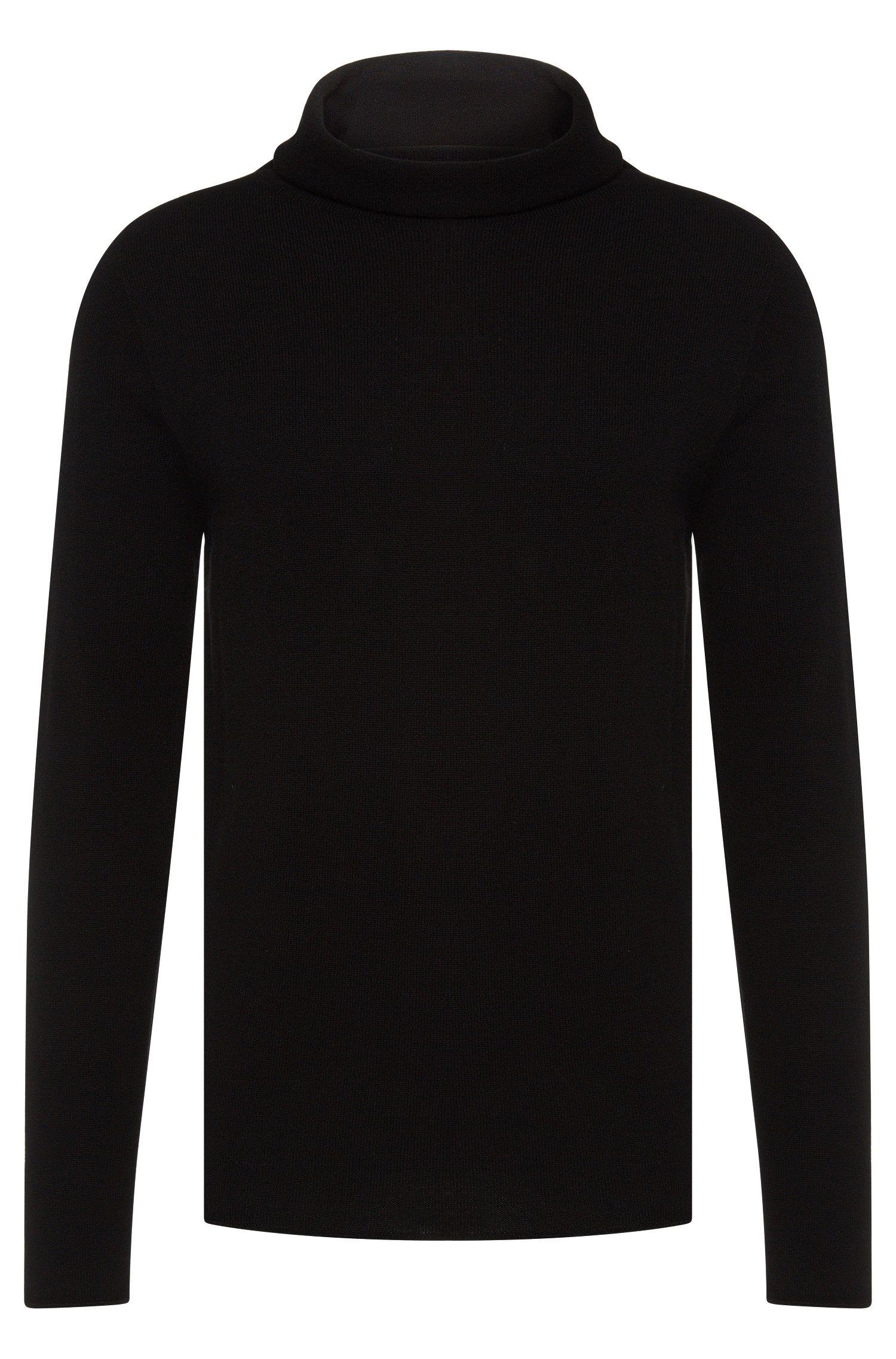 Jersey de cuello alto loose fit en cachemira y lana virgen: 'Sullux'