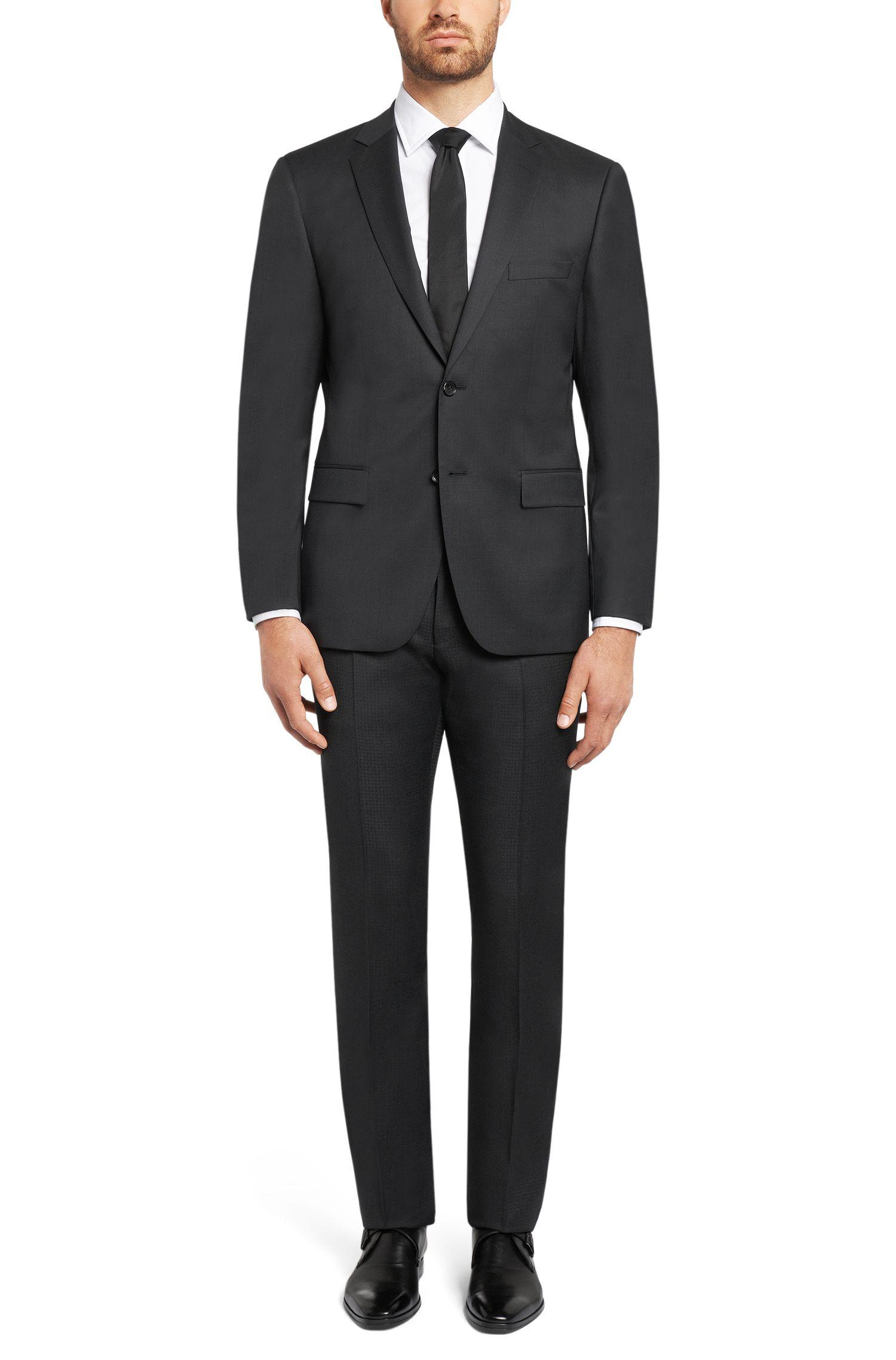 Fein gemusterte Slim-Fit Tailored Hose aus Schurwolle: 'T-Gleeve1'