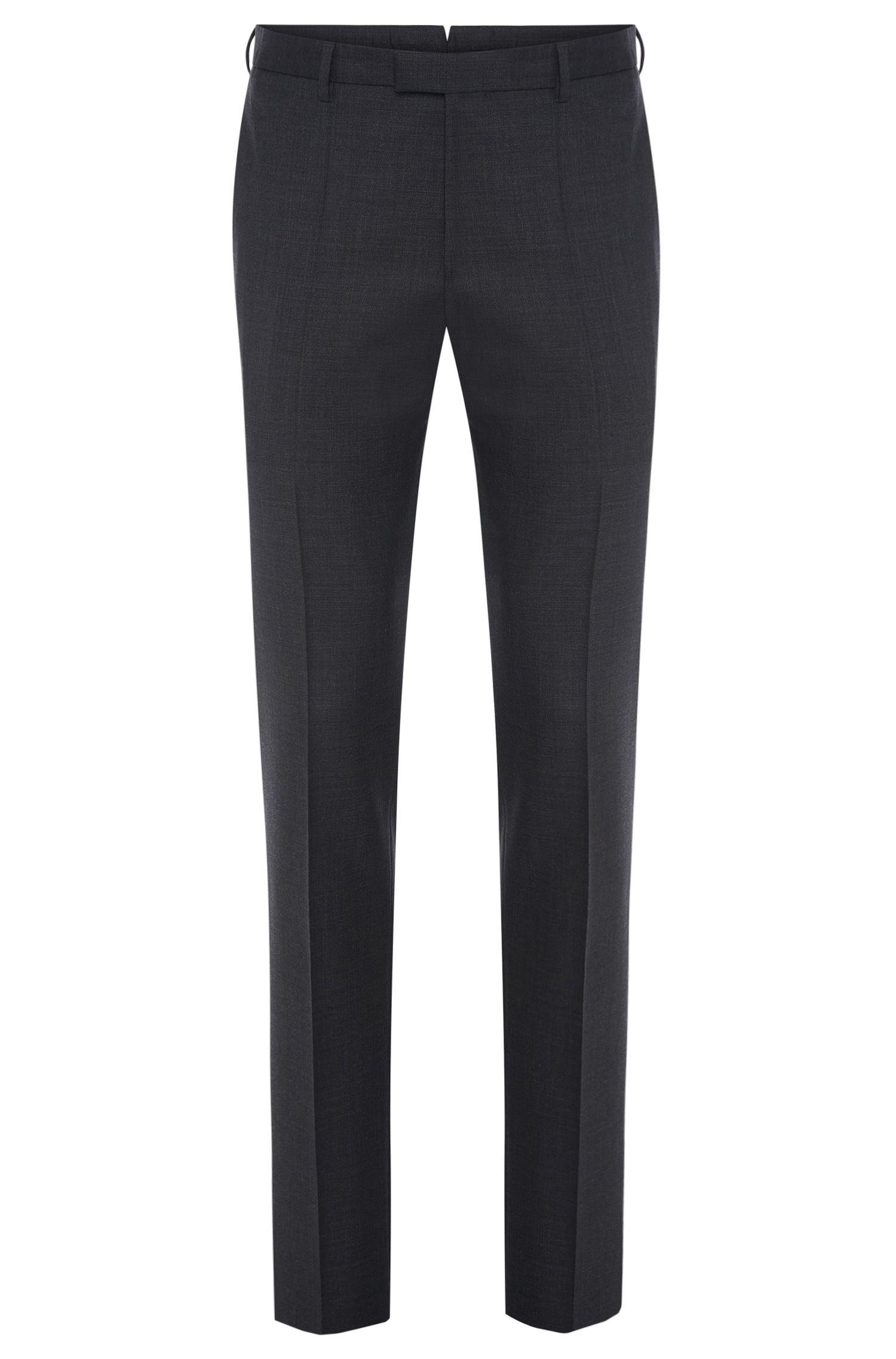 Pantalón slim fit de sastrería en lana virgen con textura fina: 'T-Bale'