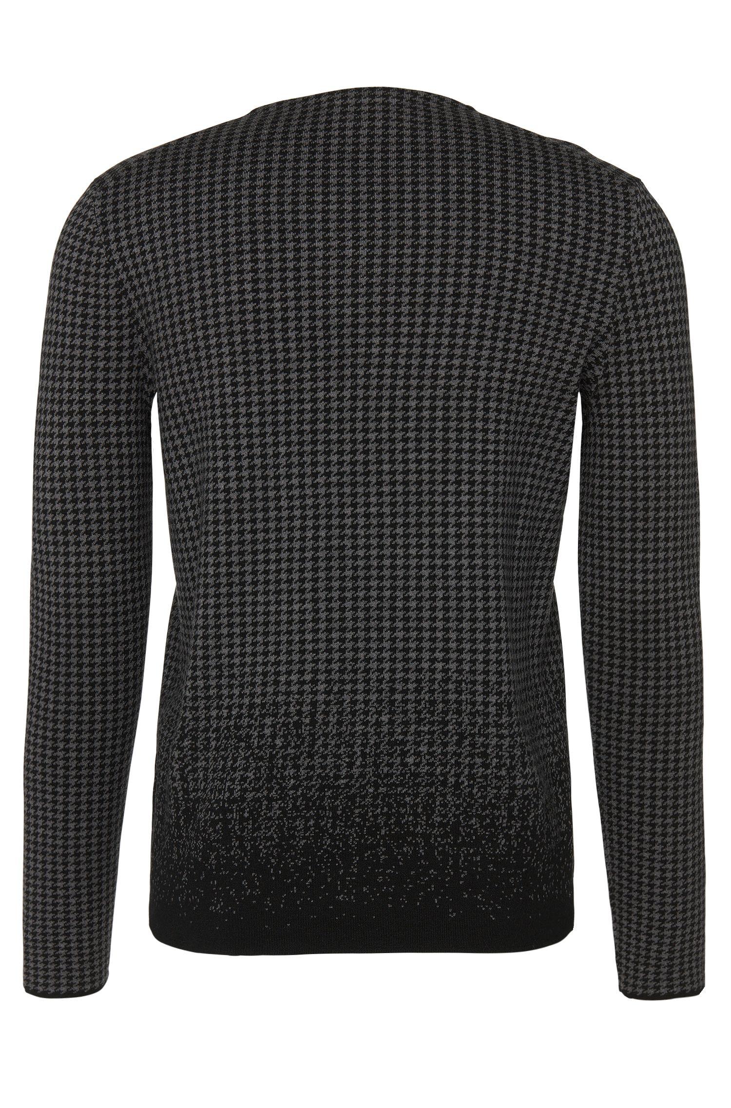 Gemusterter Loose-Fit Pullover aus Baumwoll-Mix mit Seide und Kaschmir: 'Slen'