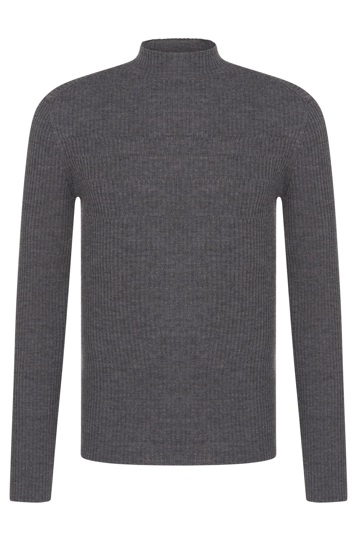 Extra slim-fit polo neck sweater in new wool: 'Smud'