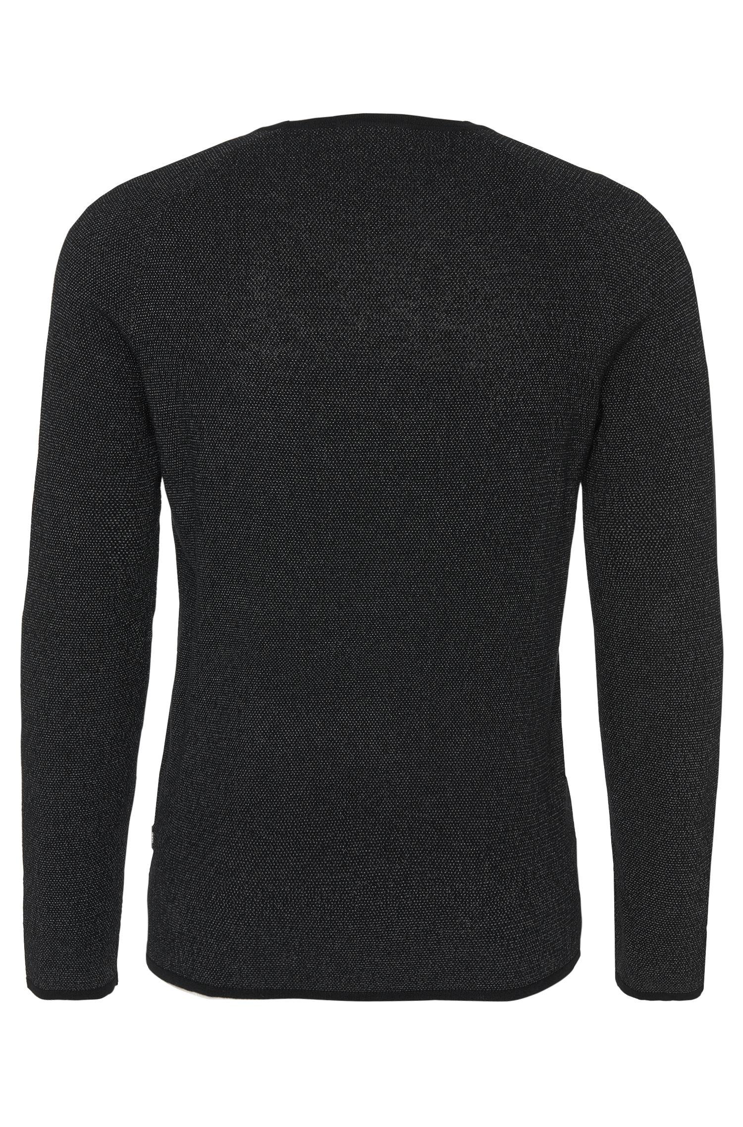 Pull Loose Fit bicolore en coton mélangé à teneur en laine: «Slack»