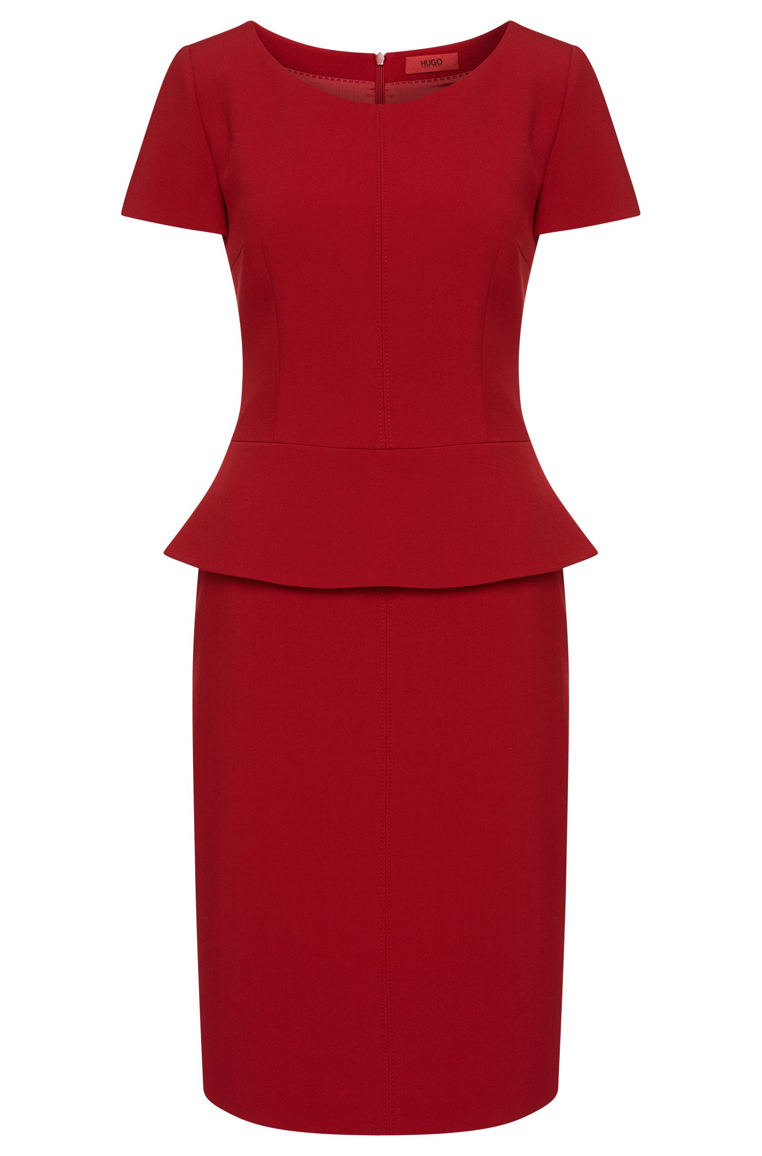 Fitted dress with peplum: 'Kailu'