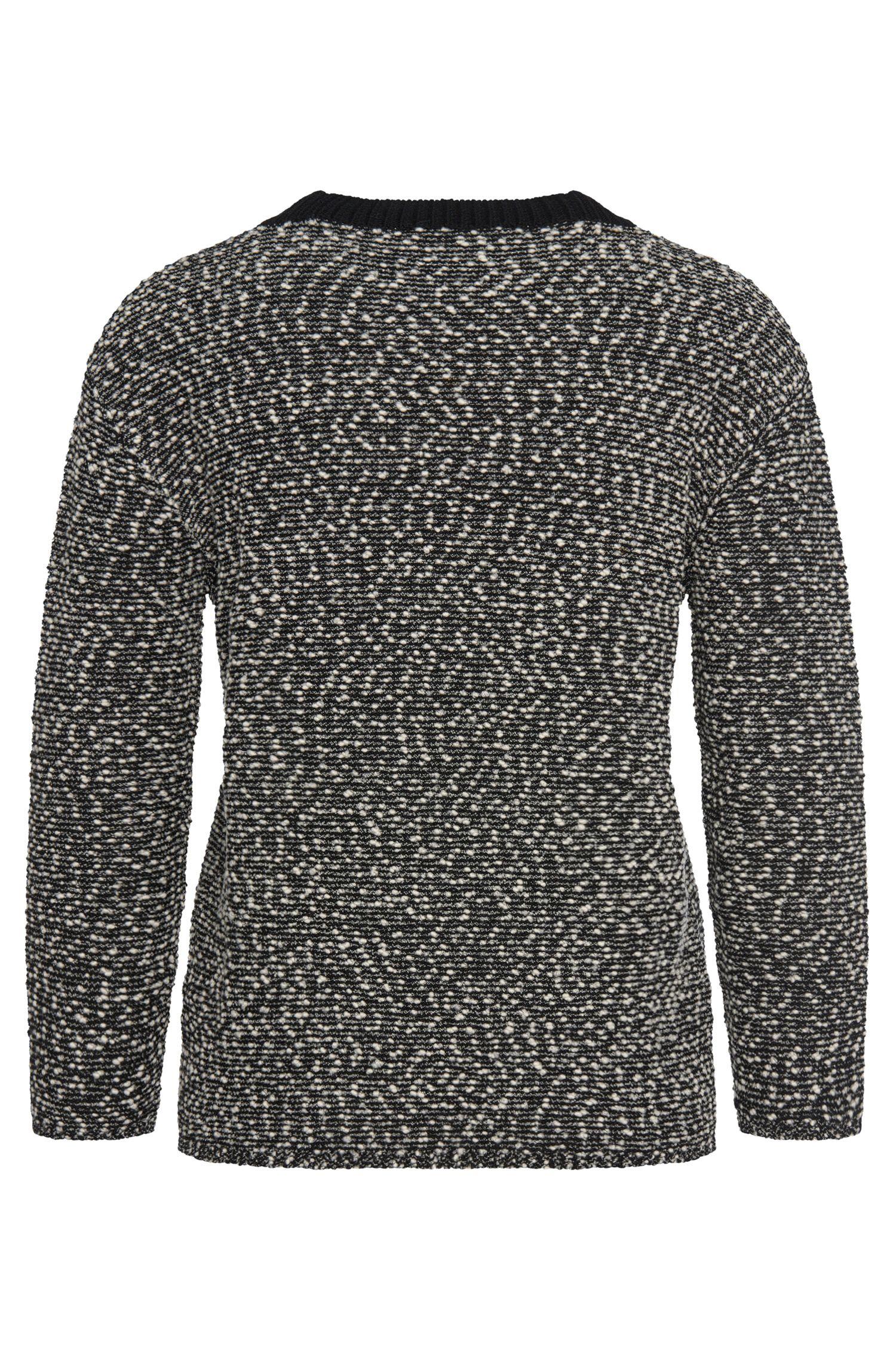 Pull à motif en laine vierge mélangée extensible: «Farala»