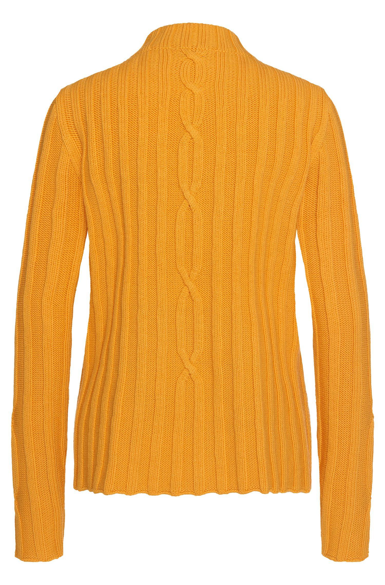 Pullover aus Schurwolle im Zopfstrick-Muster: 'Faolana'