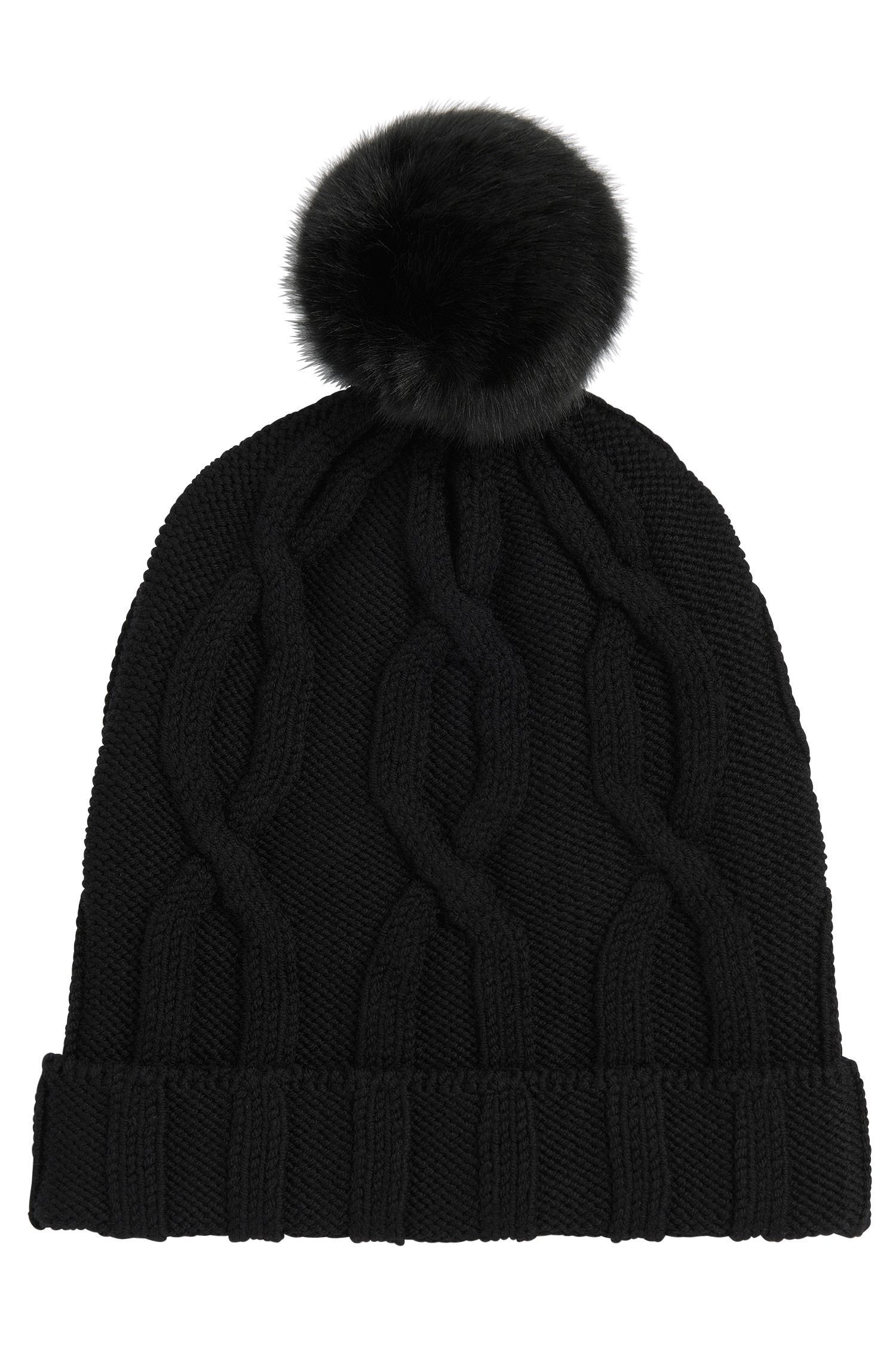 Bobble hat in new wool: 'Ziraya'