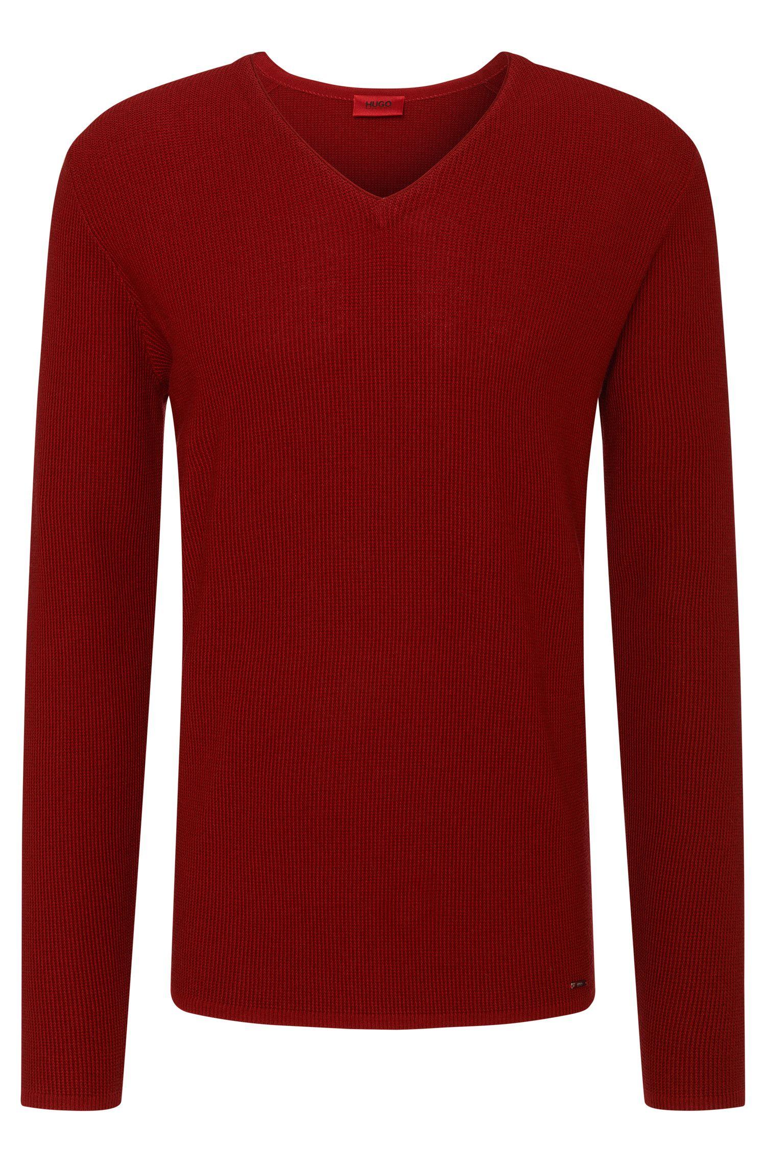 Jersey loose fit liso en algodón y lana virgen: 'Stue'
