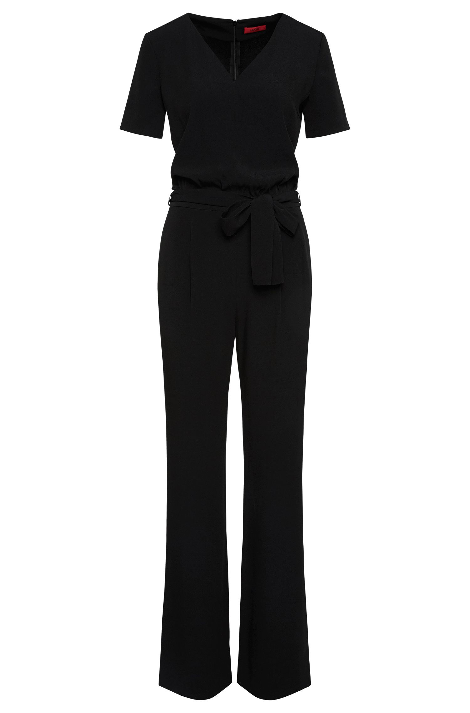 Plain-coloured jumpsuit with wrap tie: 'Kalucca'