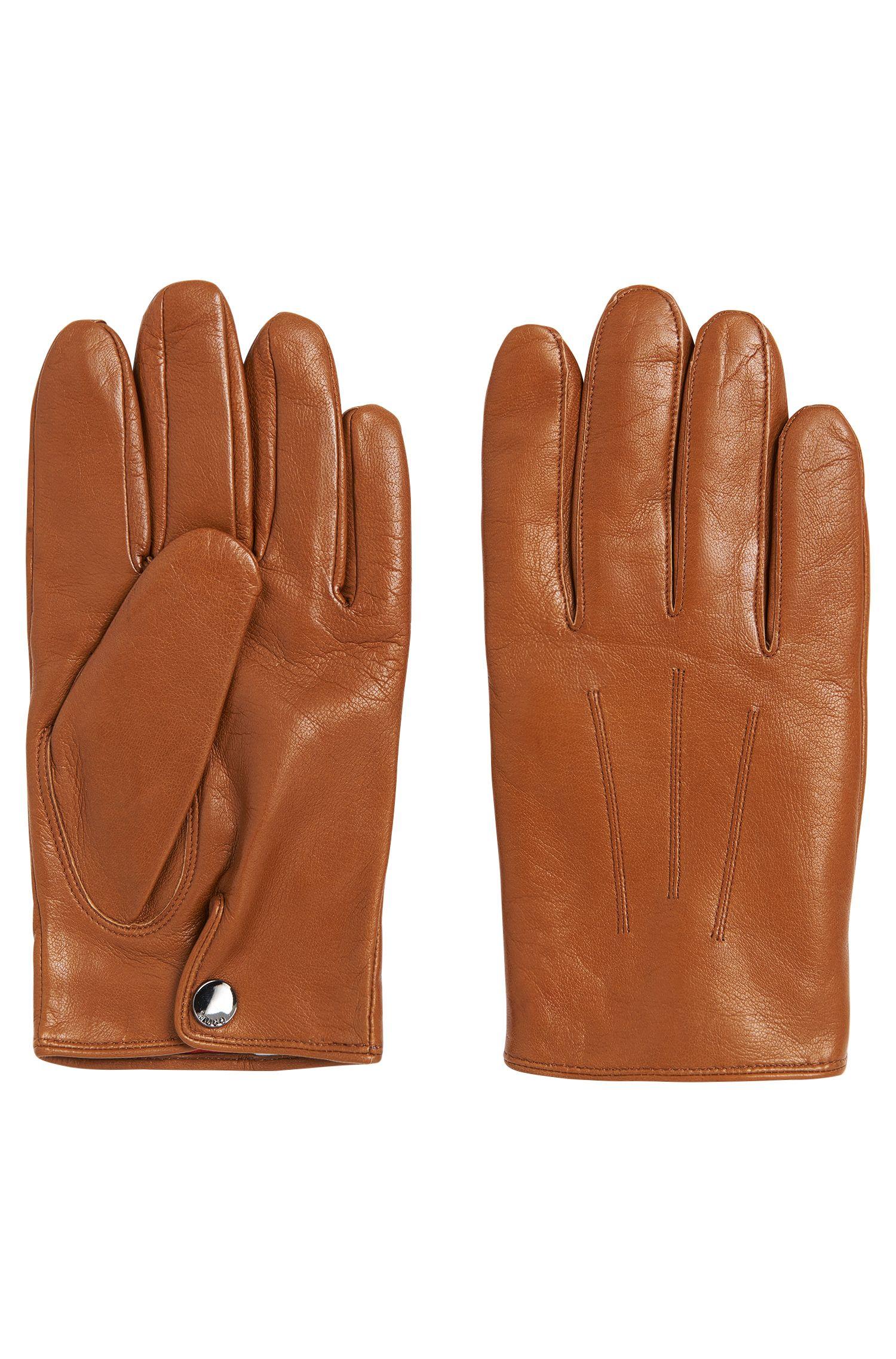 Gants en cuir avec une doublure en cachemire: «HH 50-2»