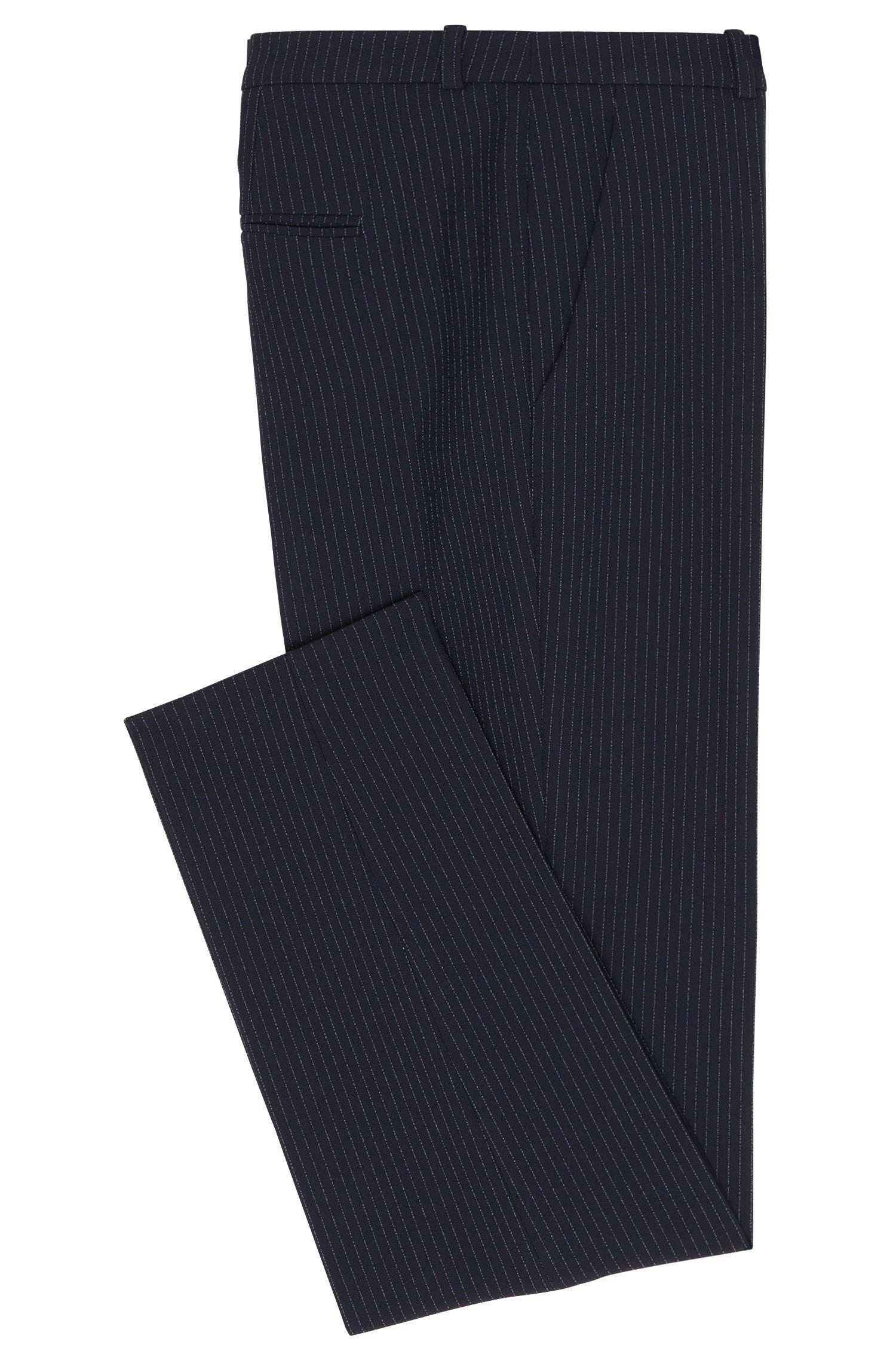 Pantalon en mélange de matières extensible à rayures tennis: «Harlile-3»