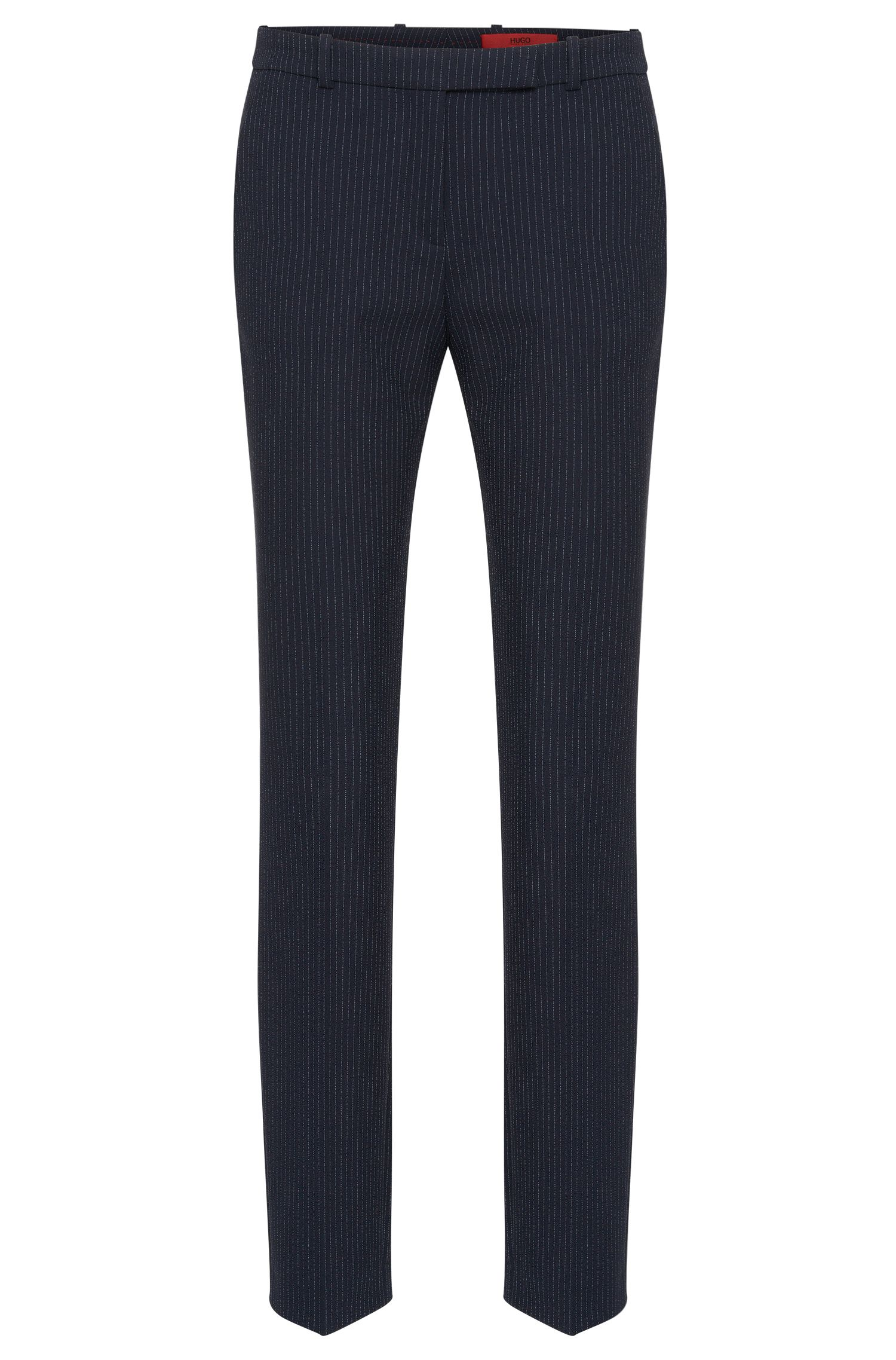 Pinstripe trousers in a stretchy fabric blend: 'Harlile-3'