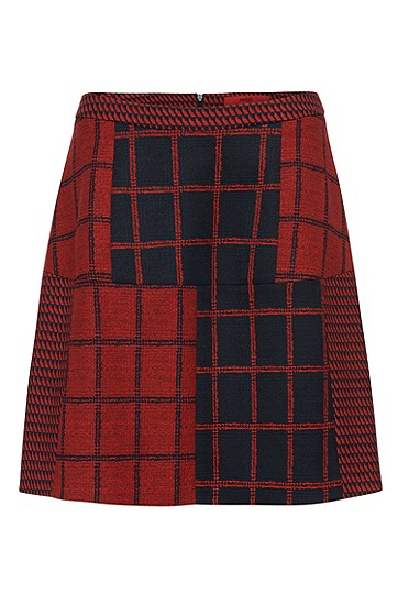 Skirt with pattern mix: 'Ranine', Patterned