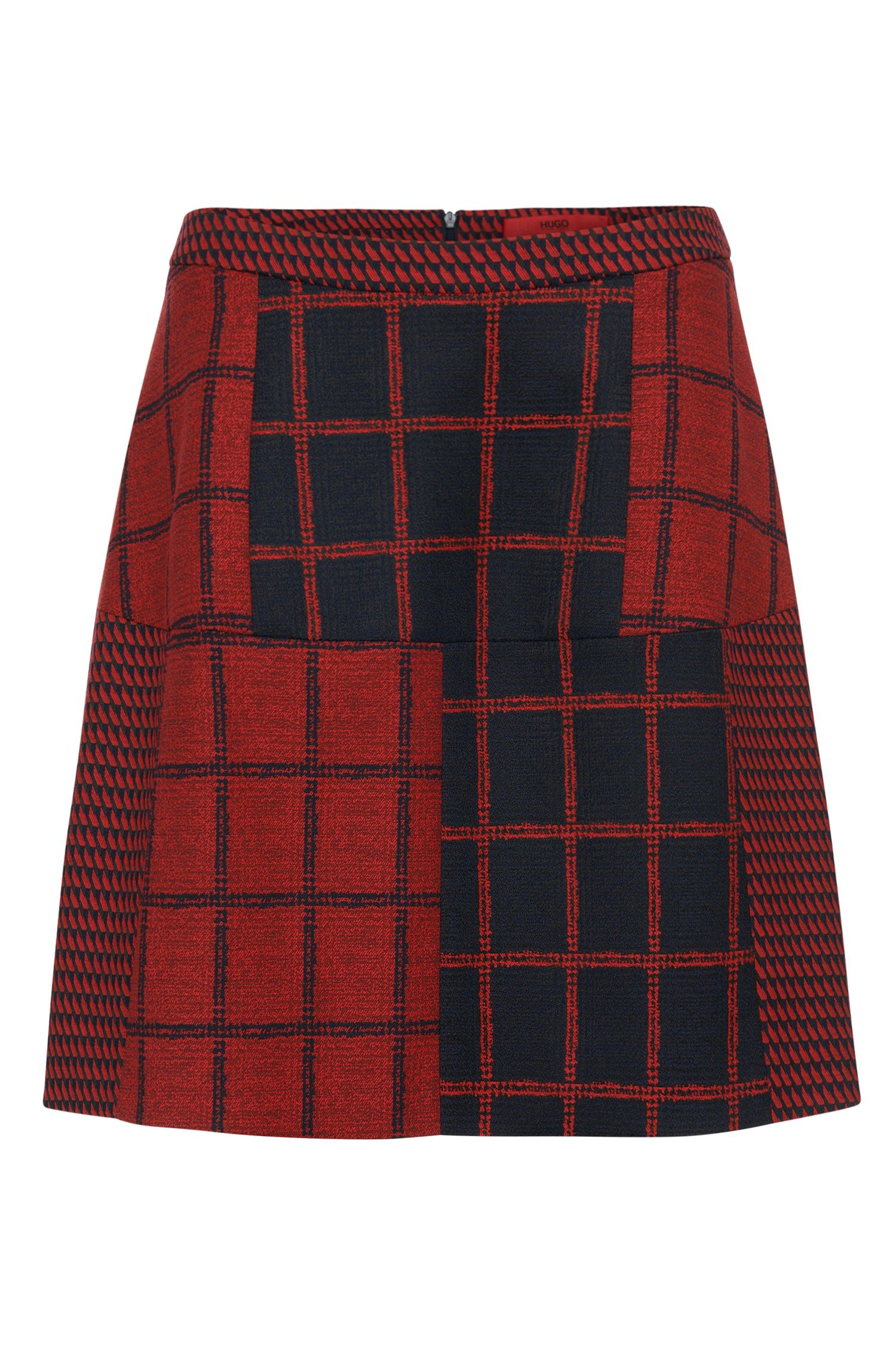 Skirt with pattern mix: 'Ranine'