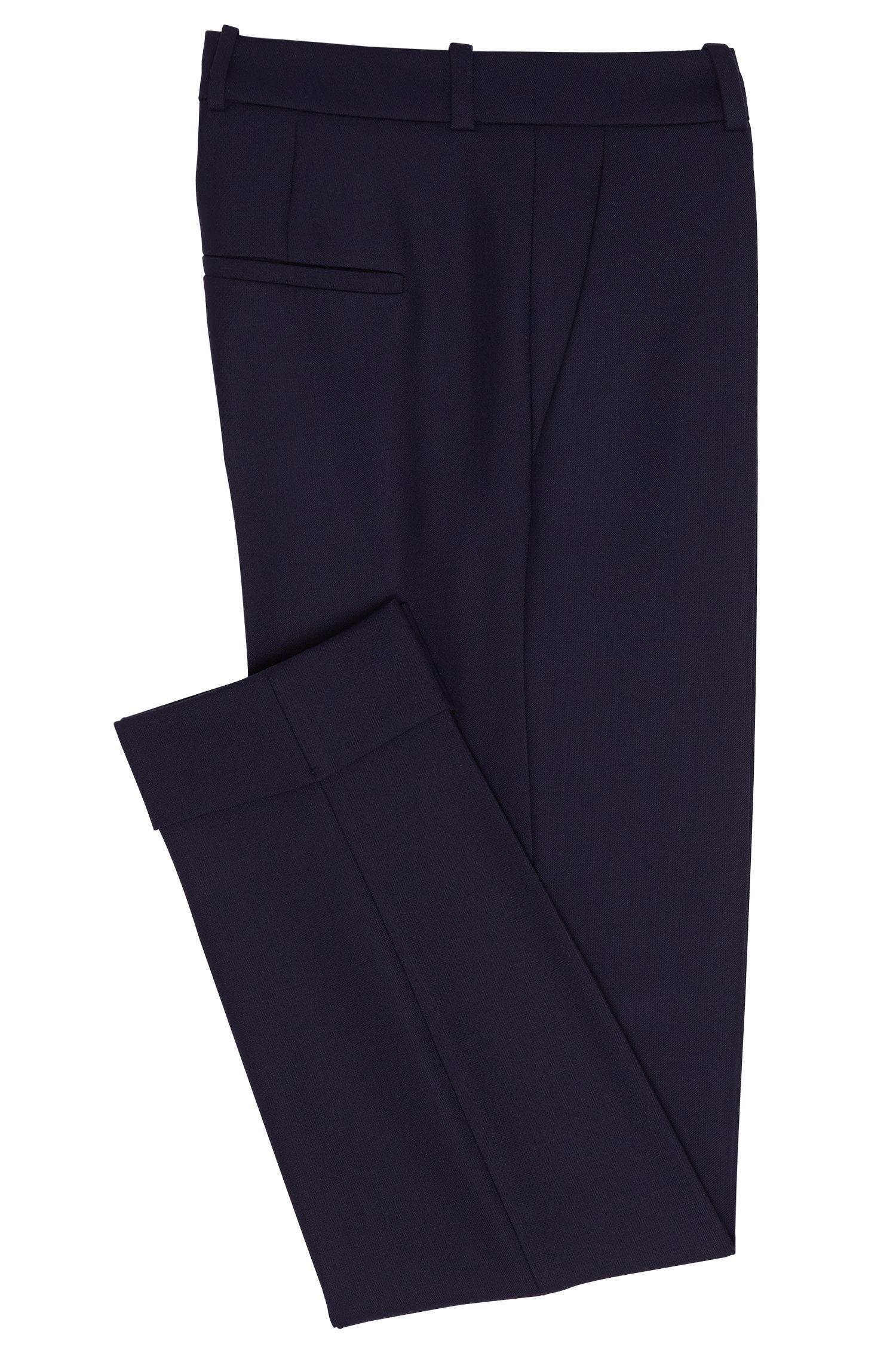 Pantalon à plis marqués à revers: «Hulya»