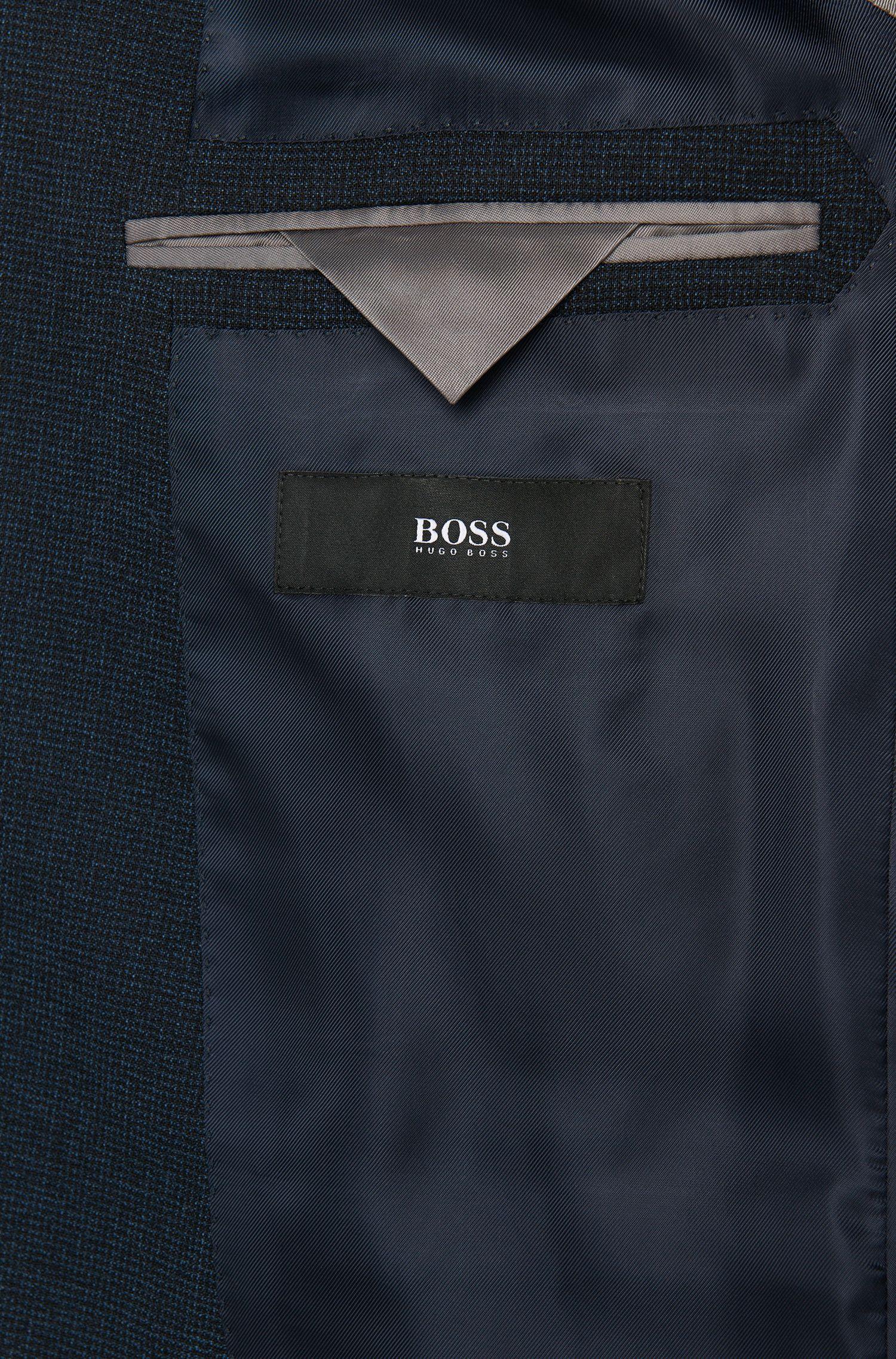 Slim-Fit Anzug aus Schurwolle mit meliertem Muster: 'Novan3/Ben'