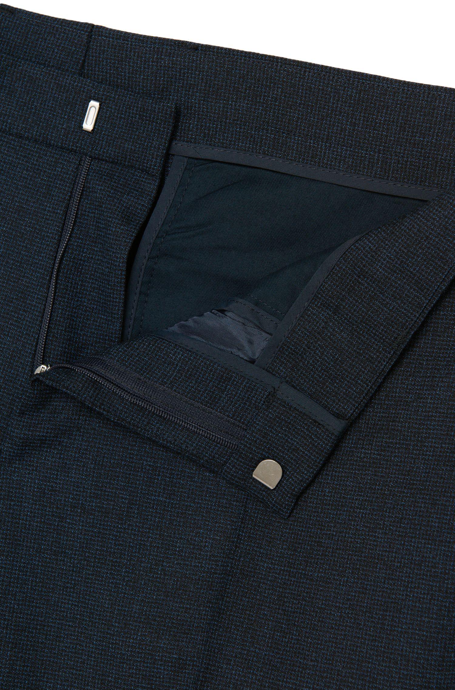 Costume Slim Fit en laine vierge à motif chiné: «Novan3/Ben»