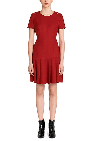 Dress with low waist: 'Karole', Open Red