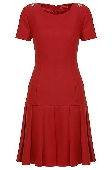 Robe à taille descendue: «Karole», Rouge clair
