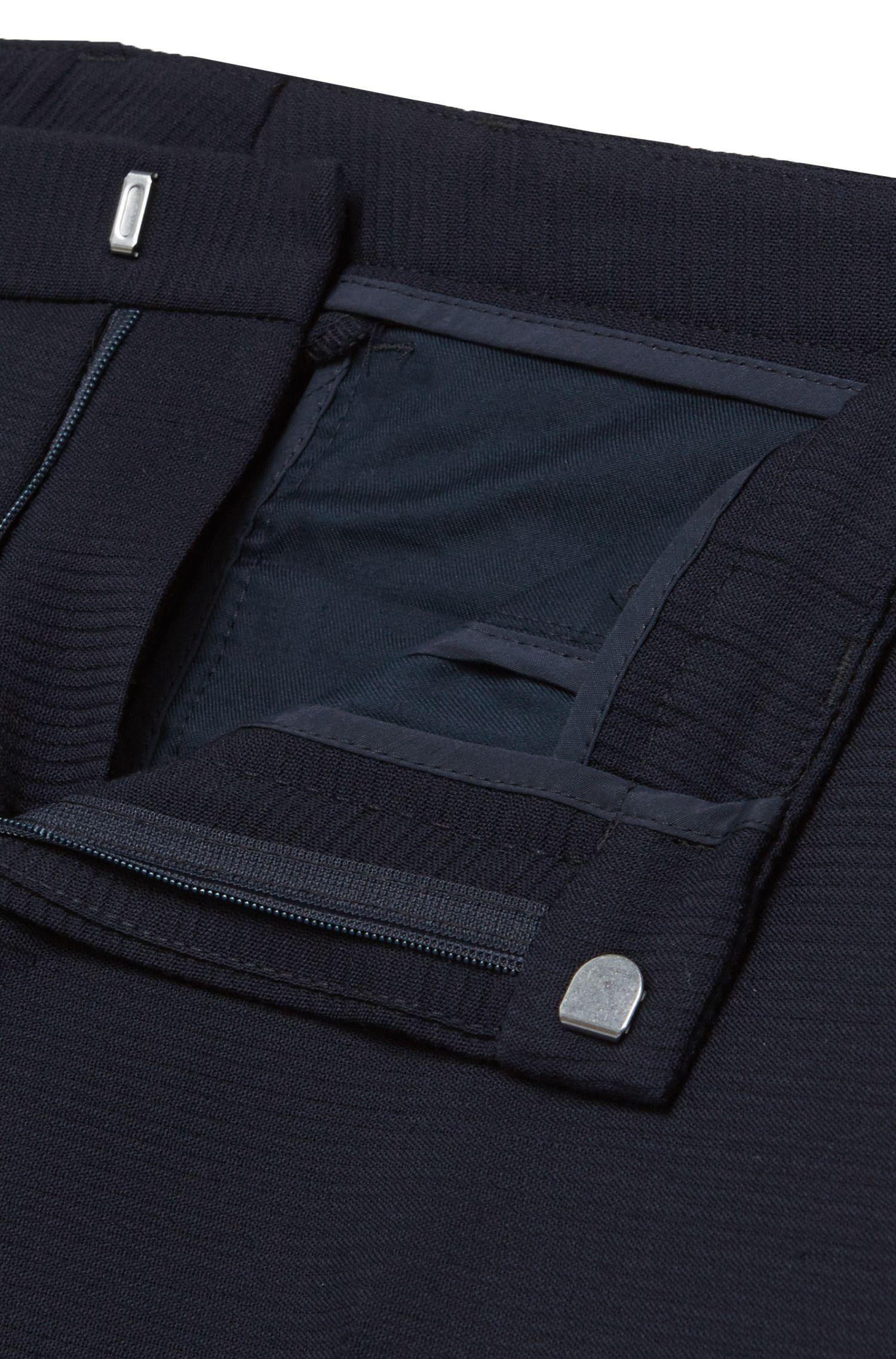 Costume Extra Slim Fit finement structuré en laine vierge stretch: «Reyno2/Wave1»