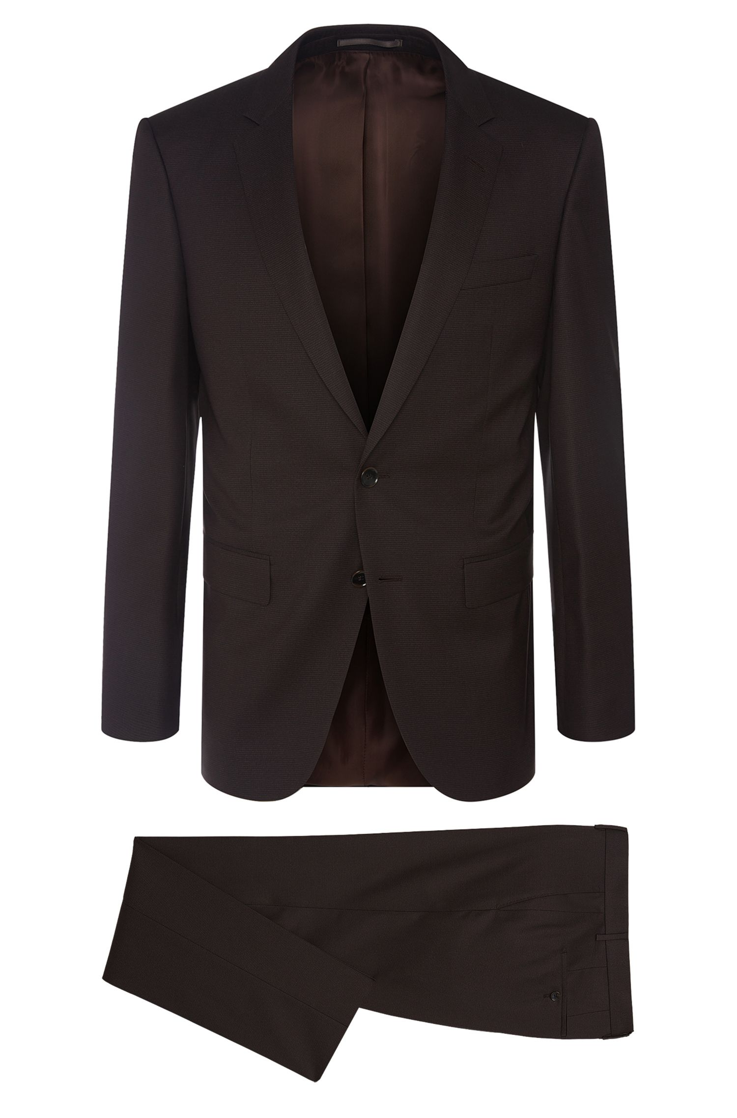 Checked slim-fit Tailored suit in new-wool blend with silk: 'T-Harvers2/Glover1'