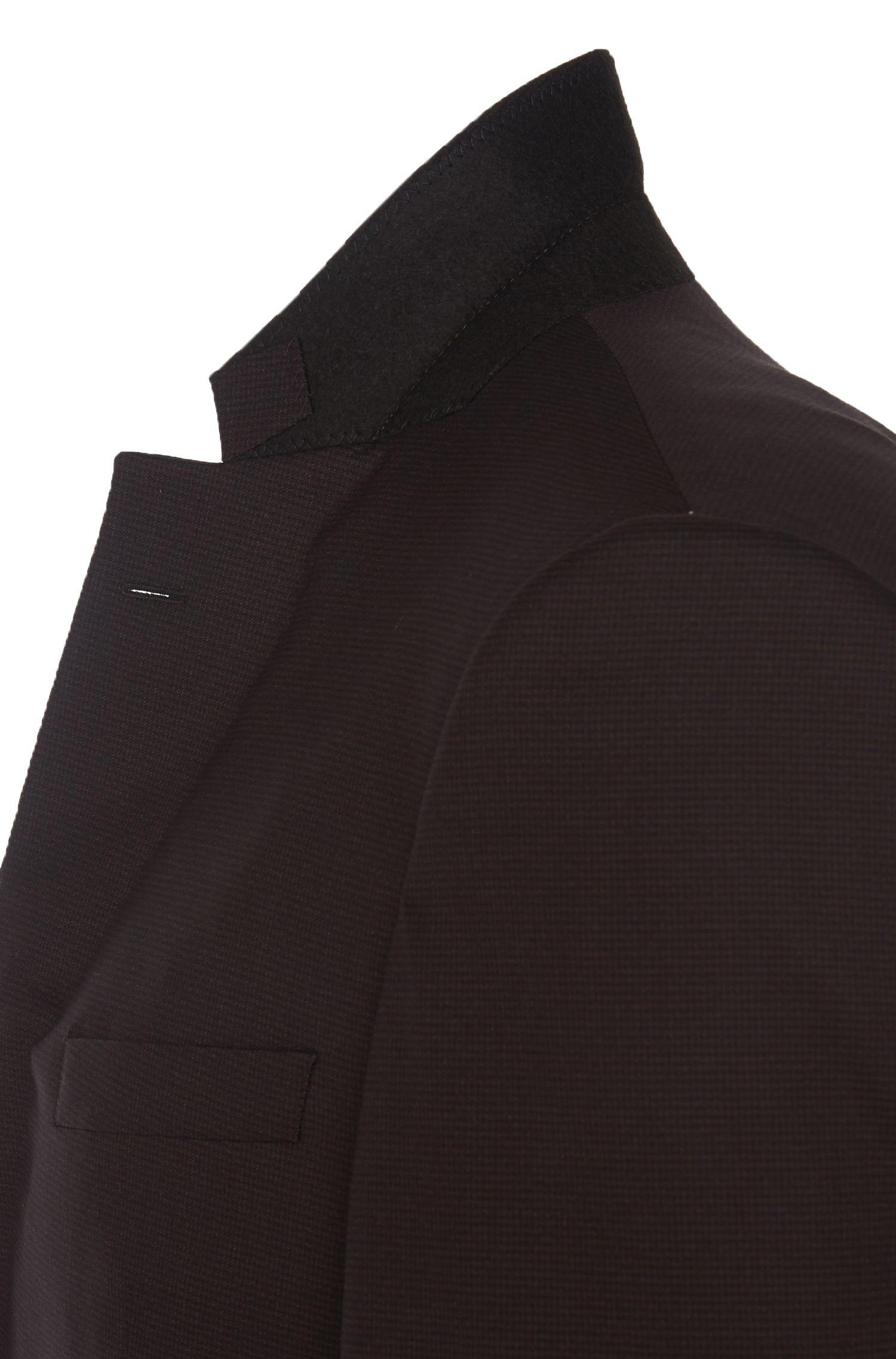 Geruit, slim-fit kostuum van een scheerwolmix met zijde uit de Tailored-collectie: 'T-Harvers2/Glover1'