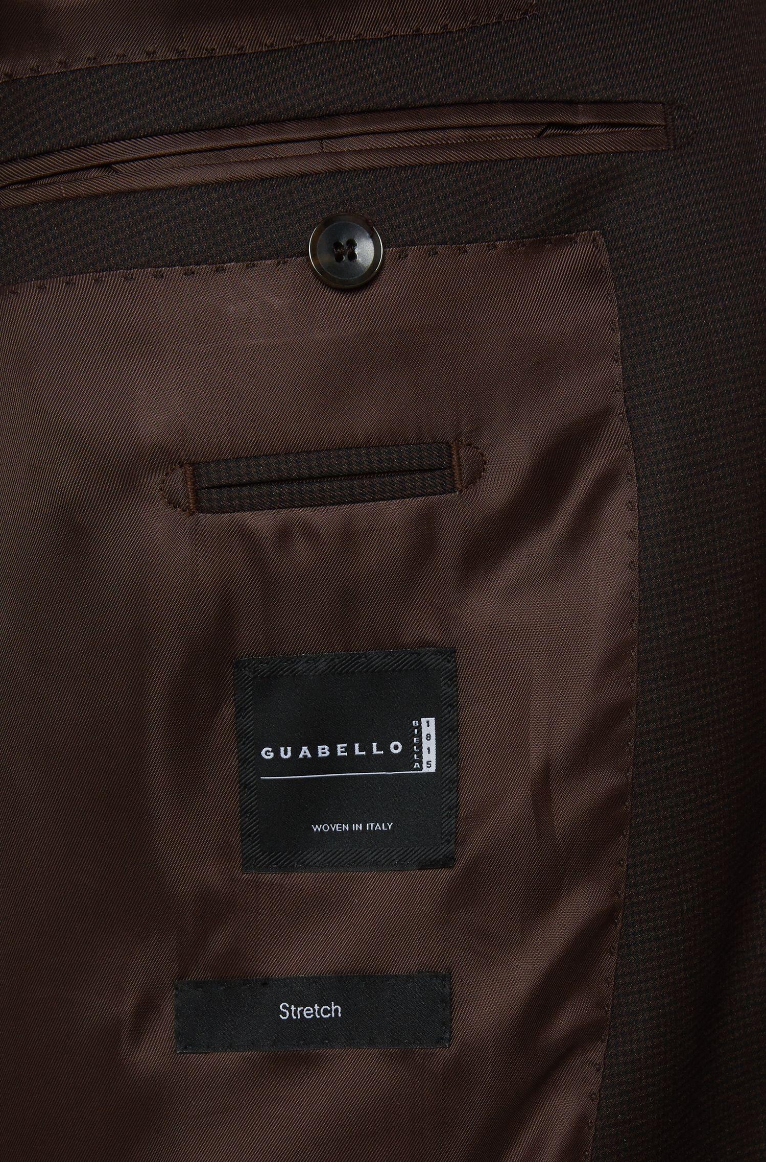 Karierter Slim-Fit Tailored Anzug aus Schurwoll-Mix mit Seide: 'T-Harvers2/Glover1'