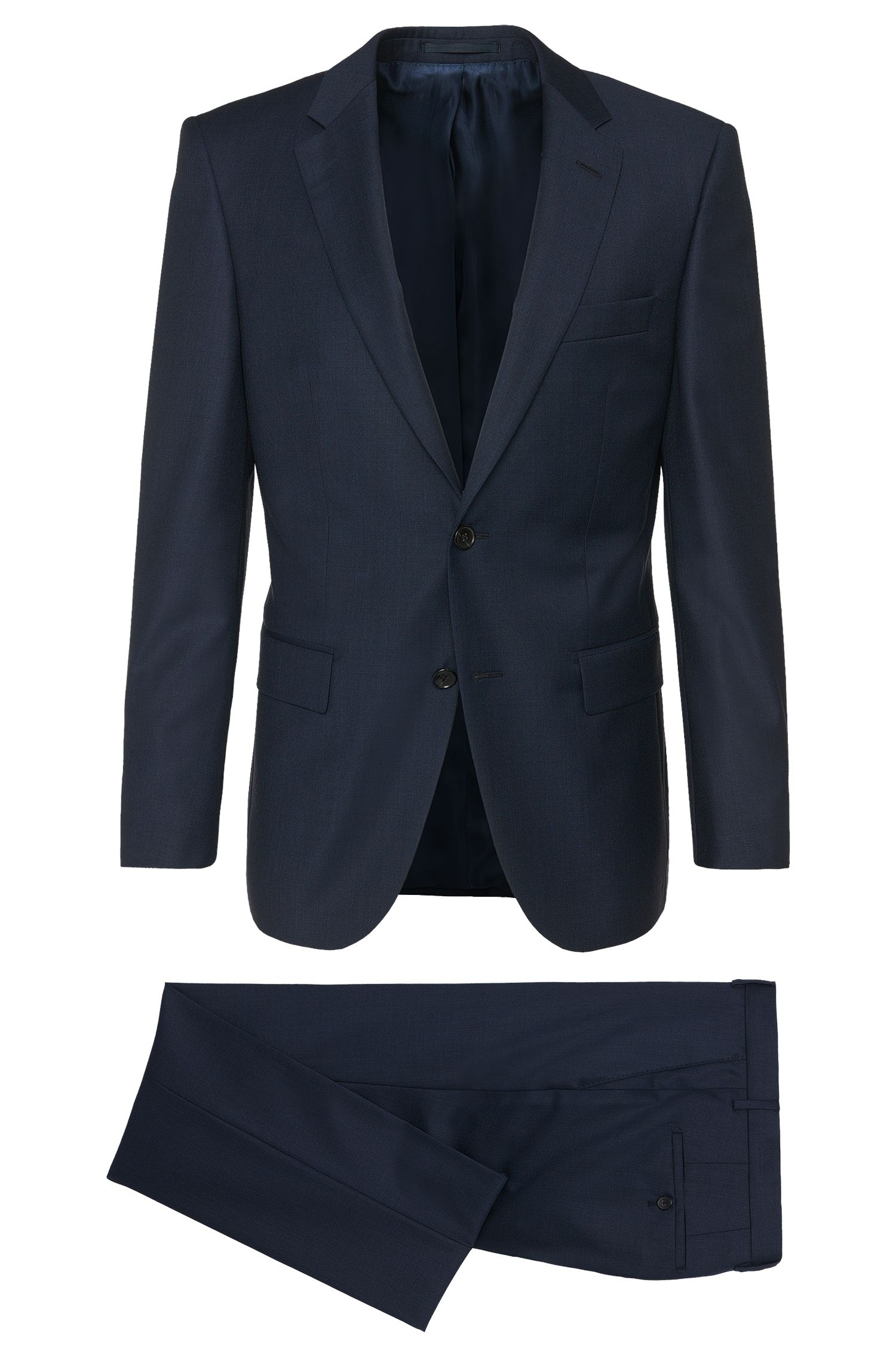 Costume Regular Fit Tailored en pure laine vierge : « T-Howard4/Court5 »
