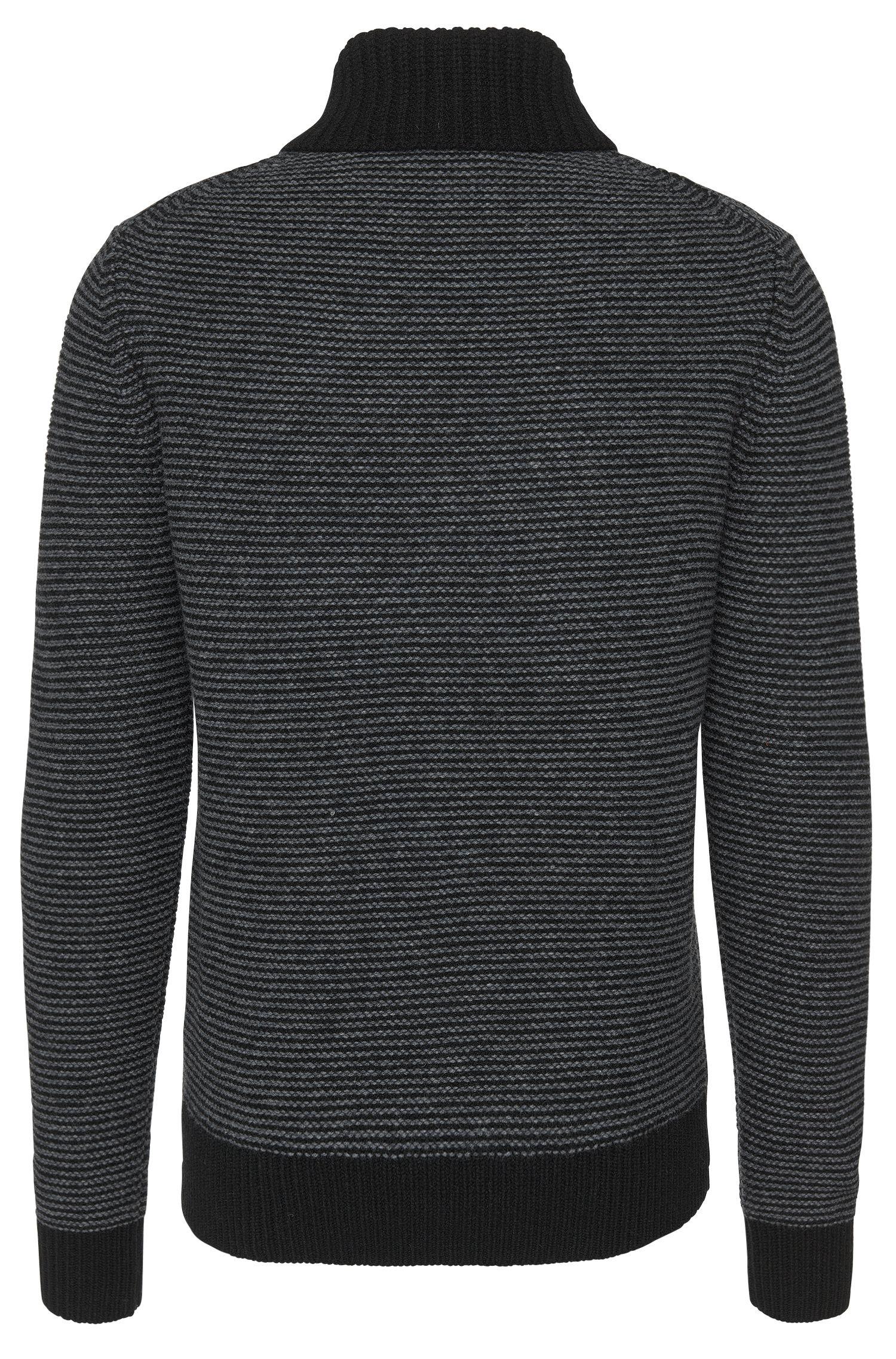 Loose Fit Pullover aus reiner Schurwolle mit Schalkragen: 'Suez'