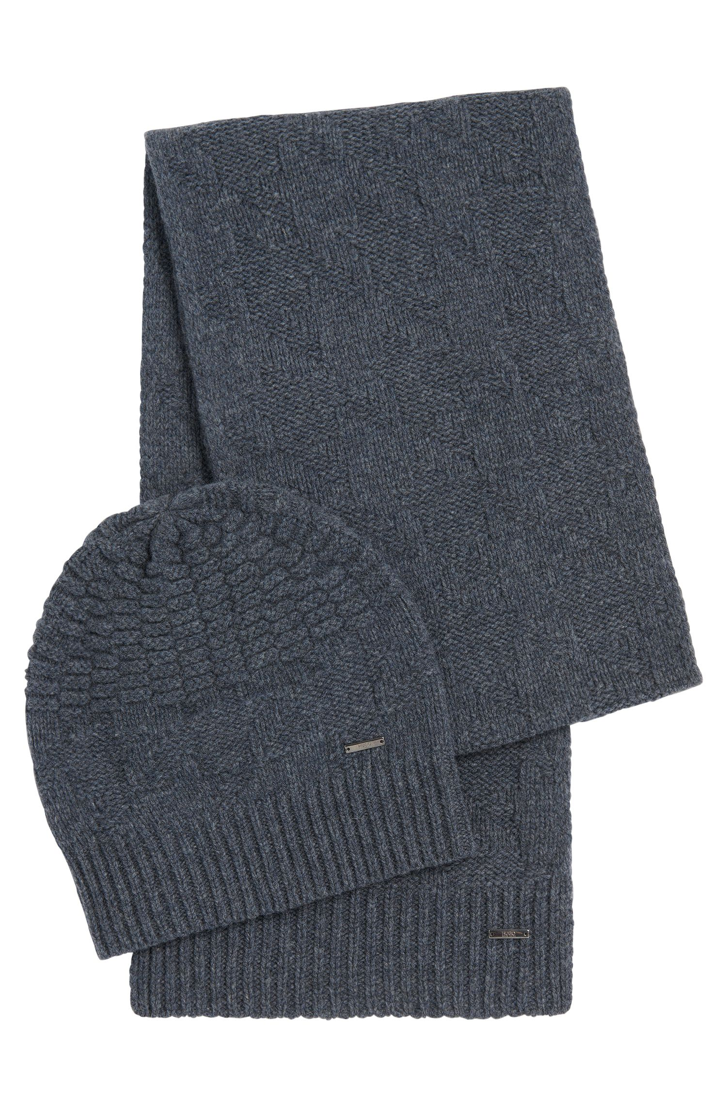 Set with a hat and scarf in new wool: 'Z Set'