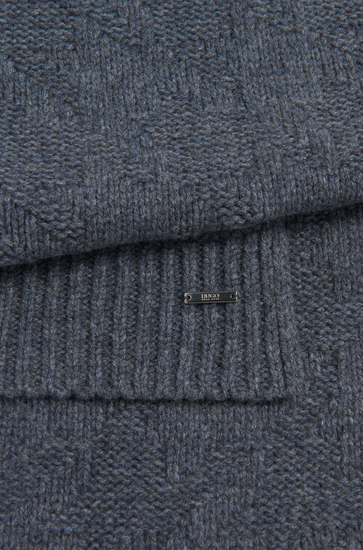 Set mit Mütze und Schal aus Schurwolle: 'Z Set'