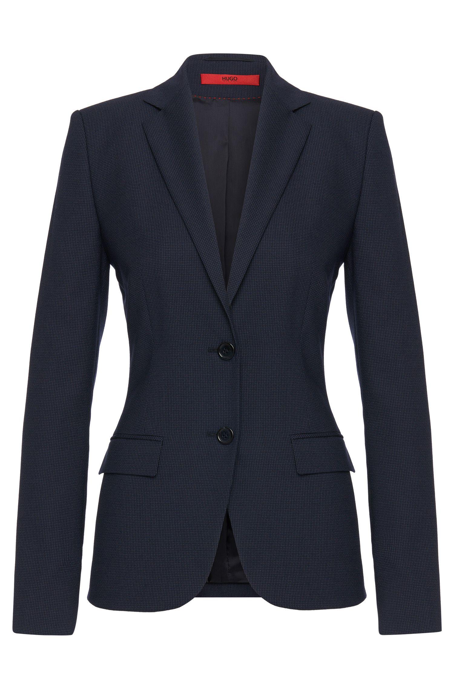 Blazer con elegante estampado en lana virgen: 'Amiesa-2'