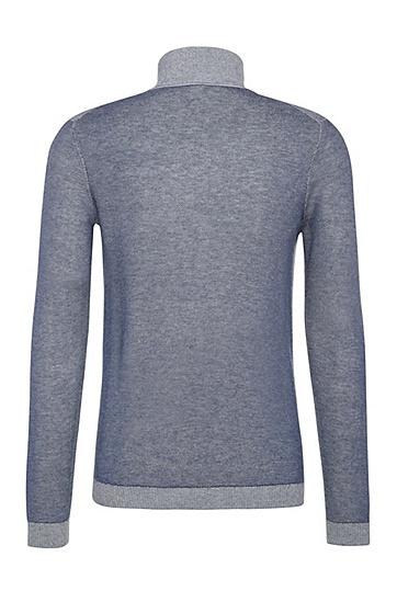 Slim-Fit Pullover aus Baumwolle und Wolle: ´Zuba`, Hellblau