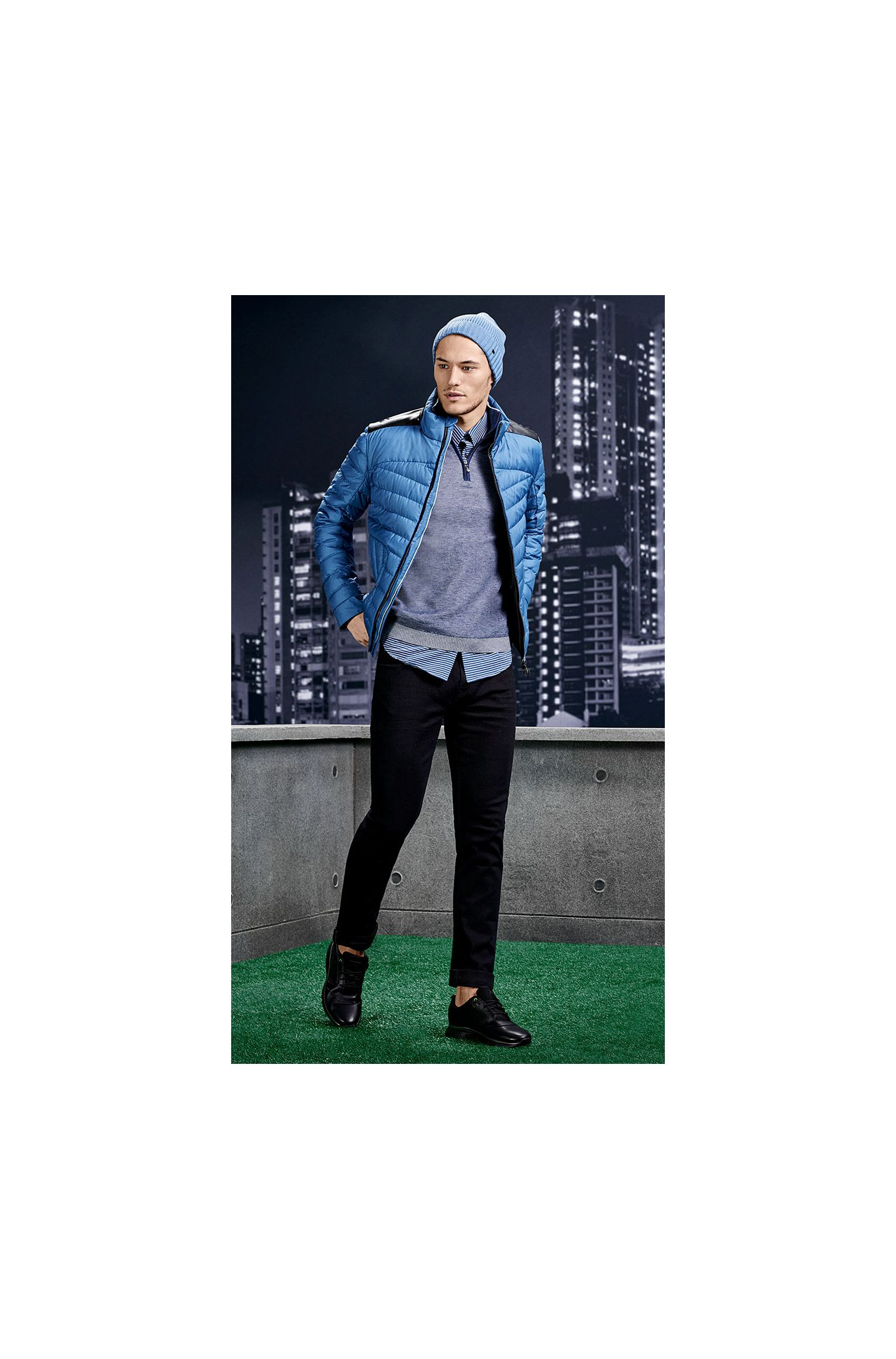 Slim-Fit Pullover aus Baumwolle und Wolle: ´Zuba`