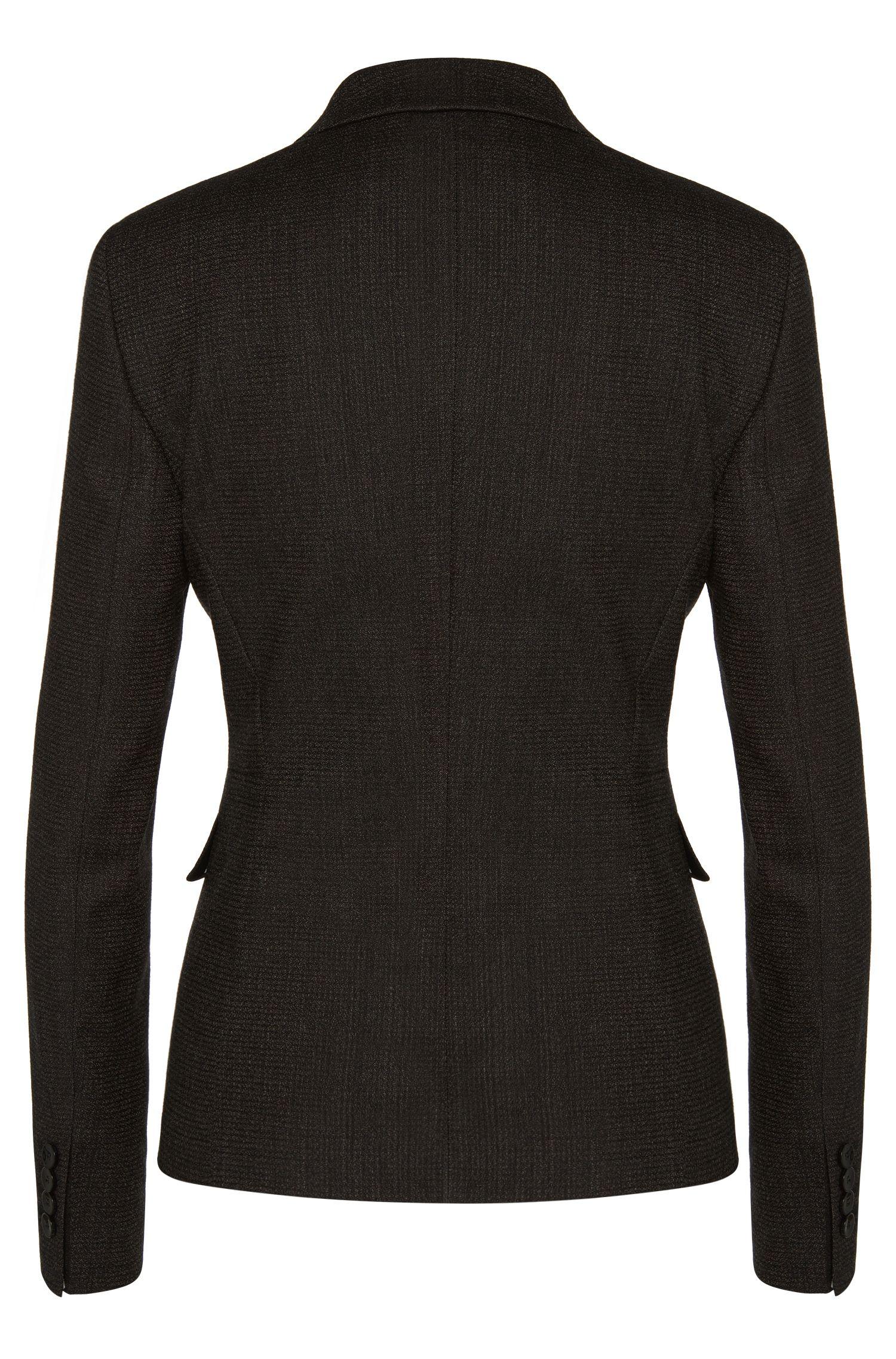 Taillierter Blazer aus Stretch-Schurwolle: 'Jiabina'
