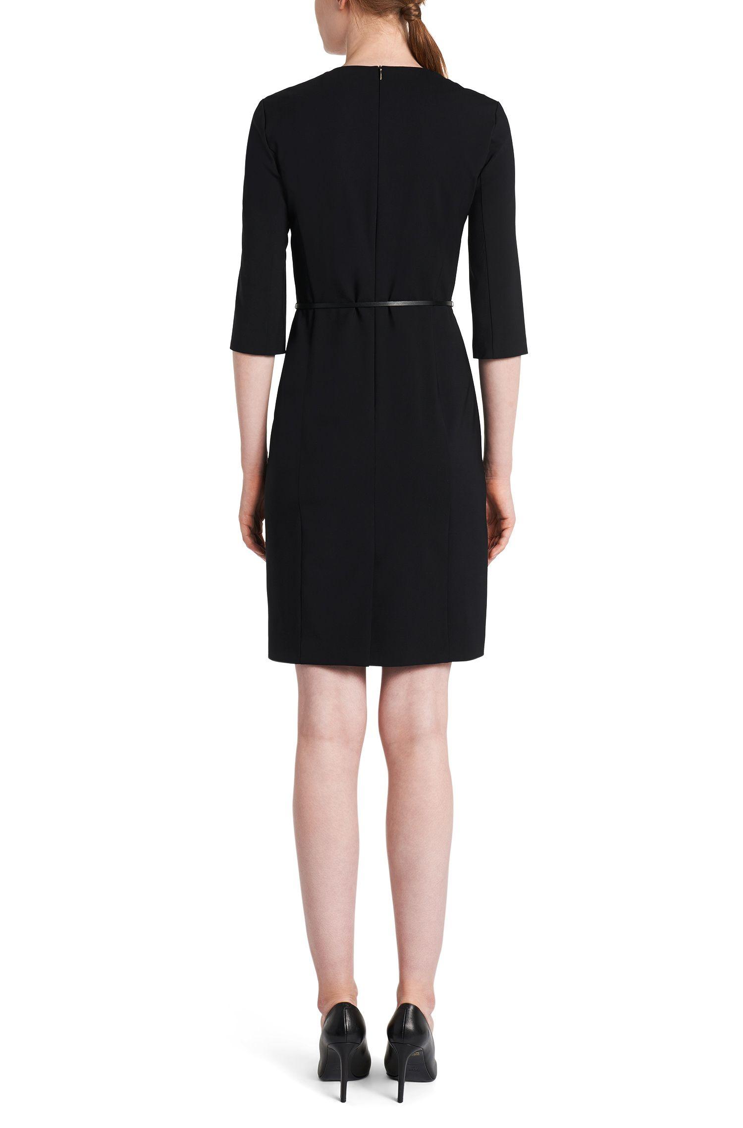 Kleid aus Stretch-Schurwolle mit halbtransparentem Einsatz: 'Diabina'