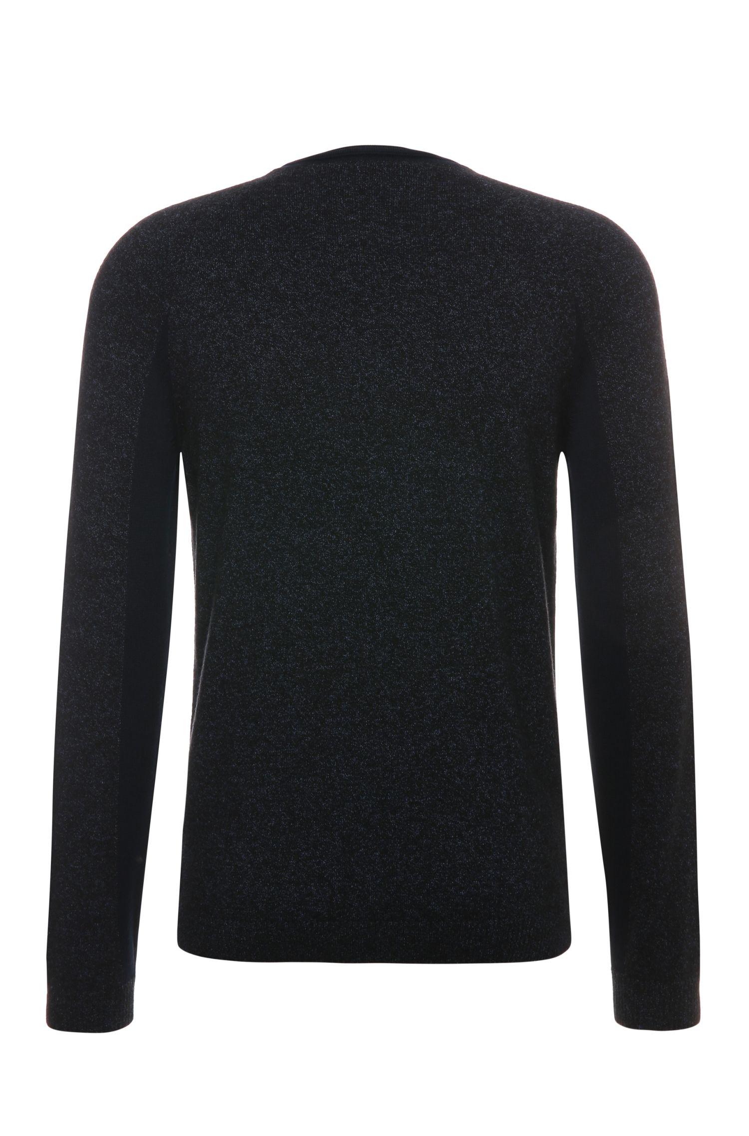 Pull en maille chiné, en laine mélangée à teneur en coton: «Rova»