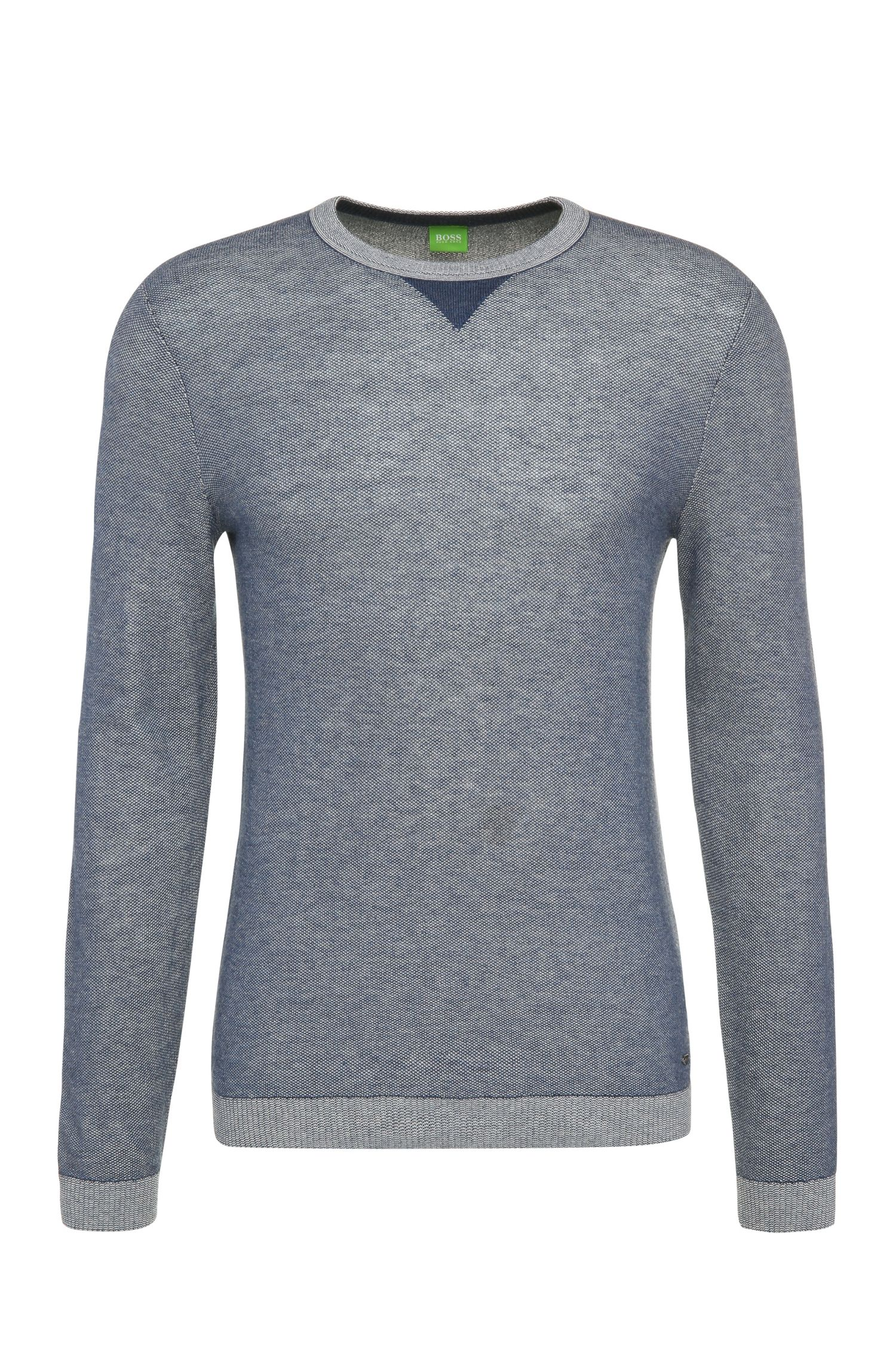 Slim-fit sweater in cotton blend with wool: 'Rix'