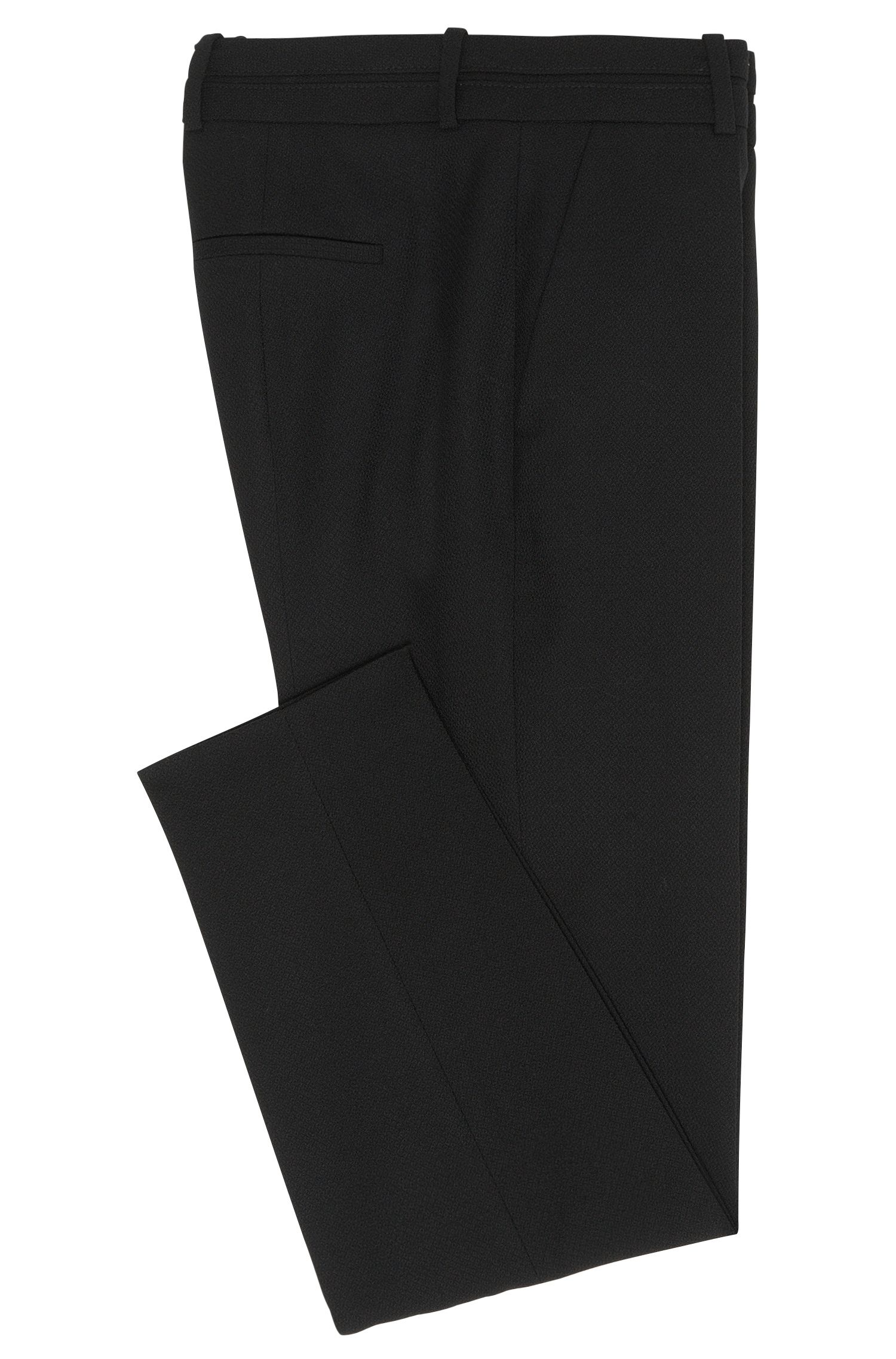 Low-Waisted Hose aus Stretch-Schurwolle: 'Haluna'