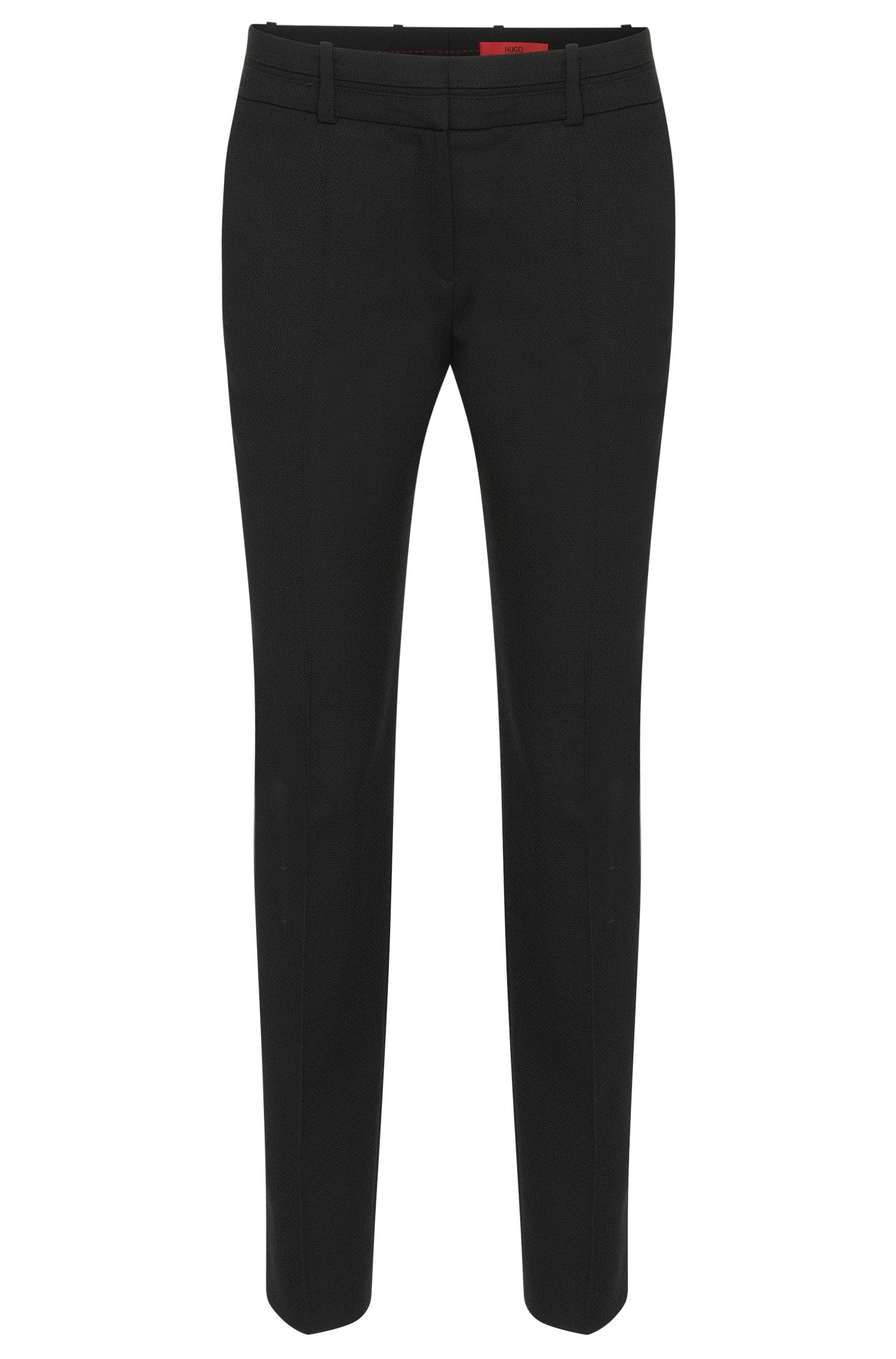 Low-waisted trousers in stretchy new wool: 'Haluna'