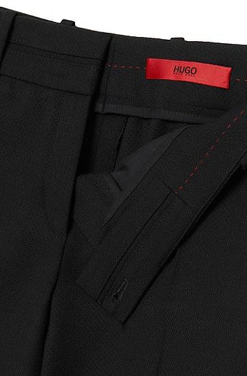 Low-Waisted Hose aus Stretch-Schurwolle: 'Haluna', Schwarz