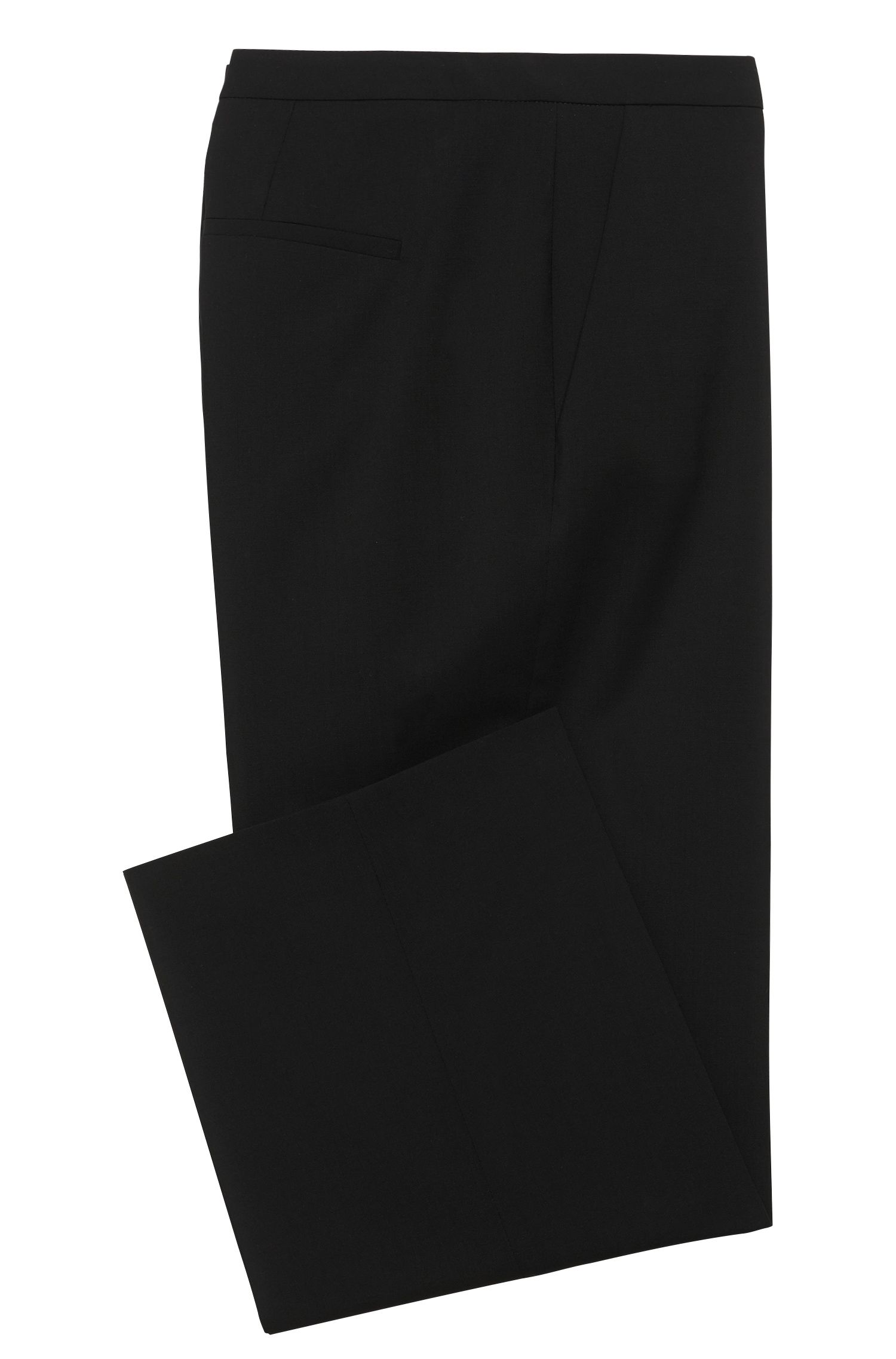 Low Waisted Hose aus Stretch-Schurwolle: 'Hokena'