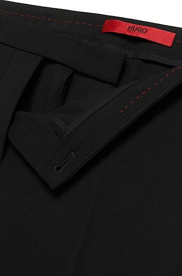 Low Waisted Hose aus Stretch-Schurwolle: 'Hokena', Schwarz