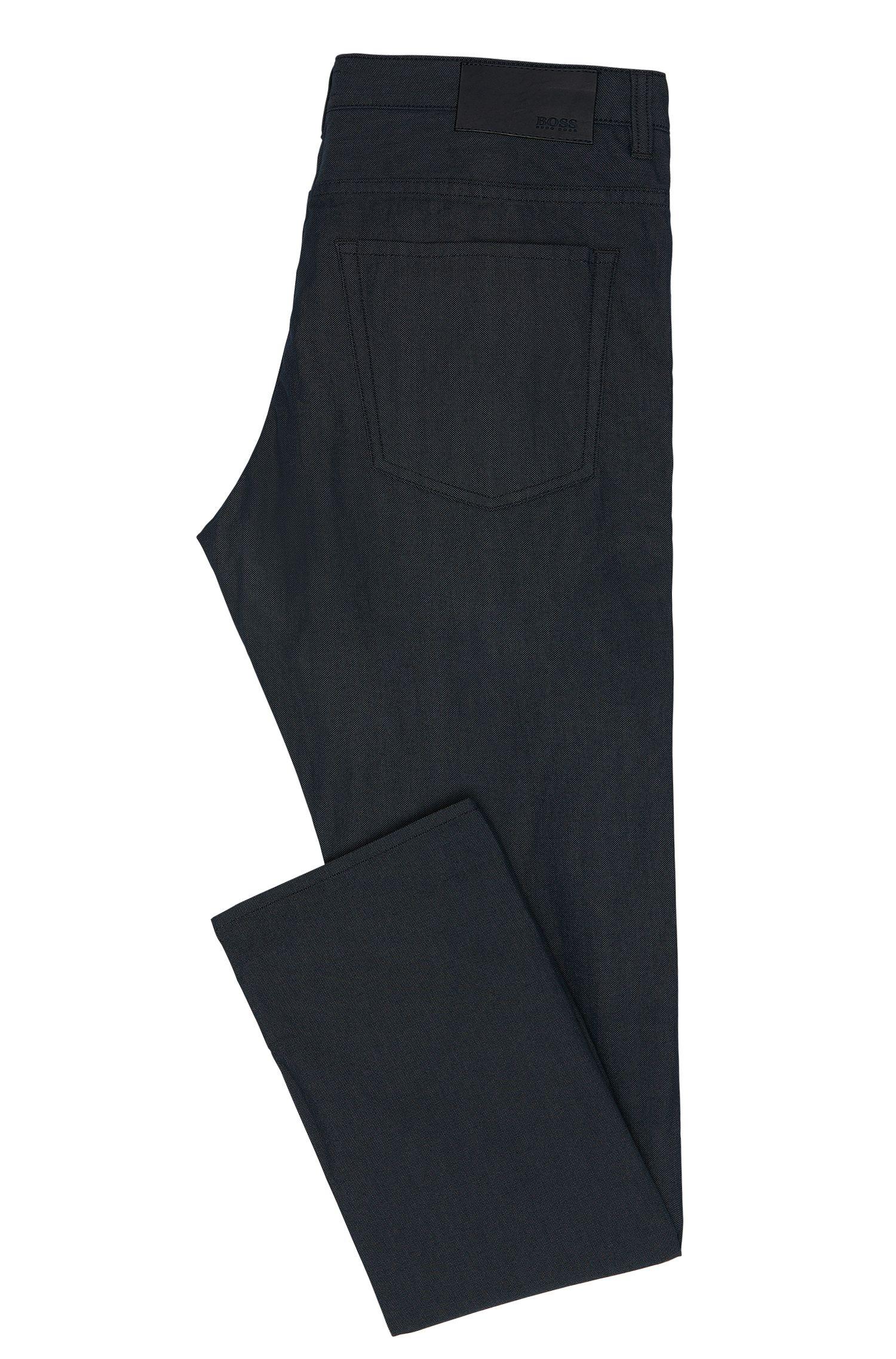 Fein gemusterte Slim-Fit Jeans aus elastischem Baumwoll-Mix: 'Delaware3-20'