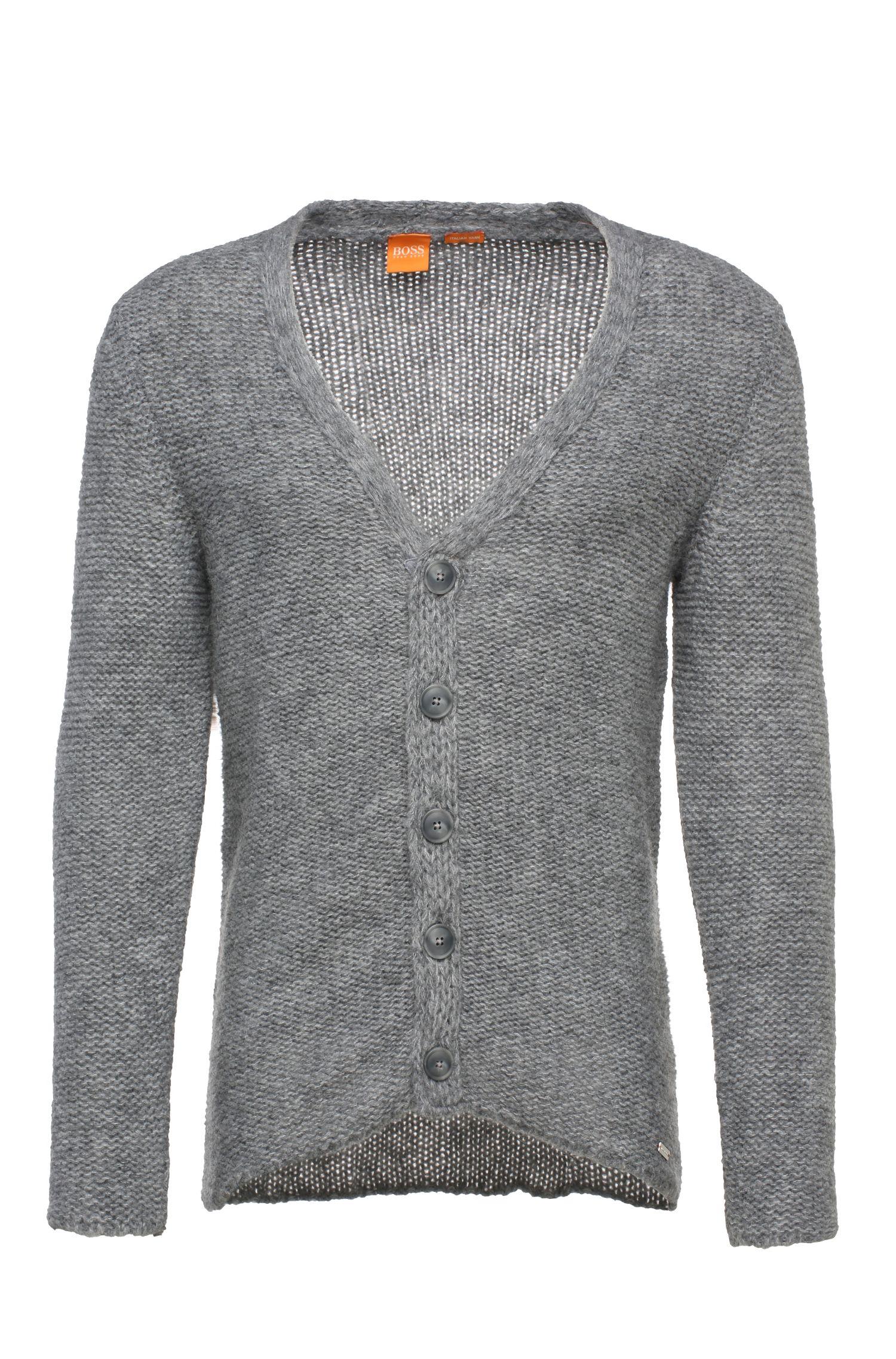 Cardigan en maille en mélange de matières, avec de l'alpaga et de la laine vierge: «Kwaytwo»