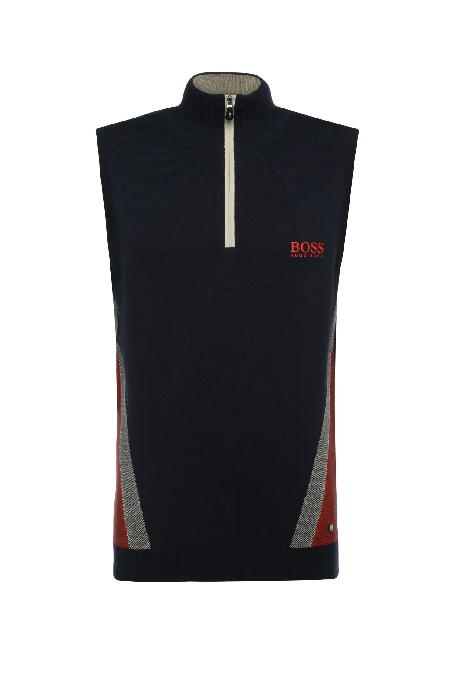 Slim-fit functional vest in a cotton blend with elastane: 'Zagi_Pro_W16'